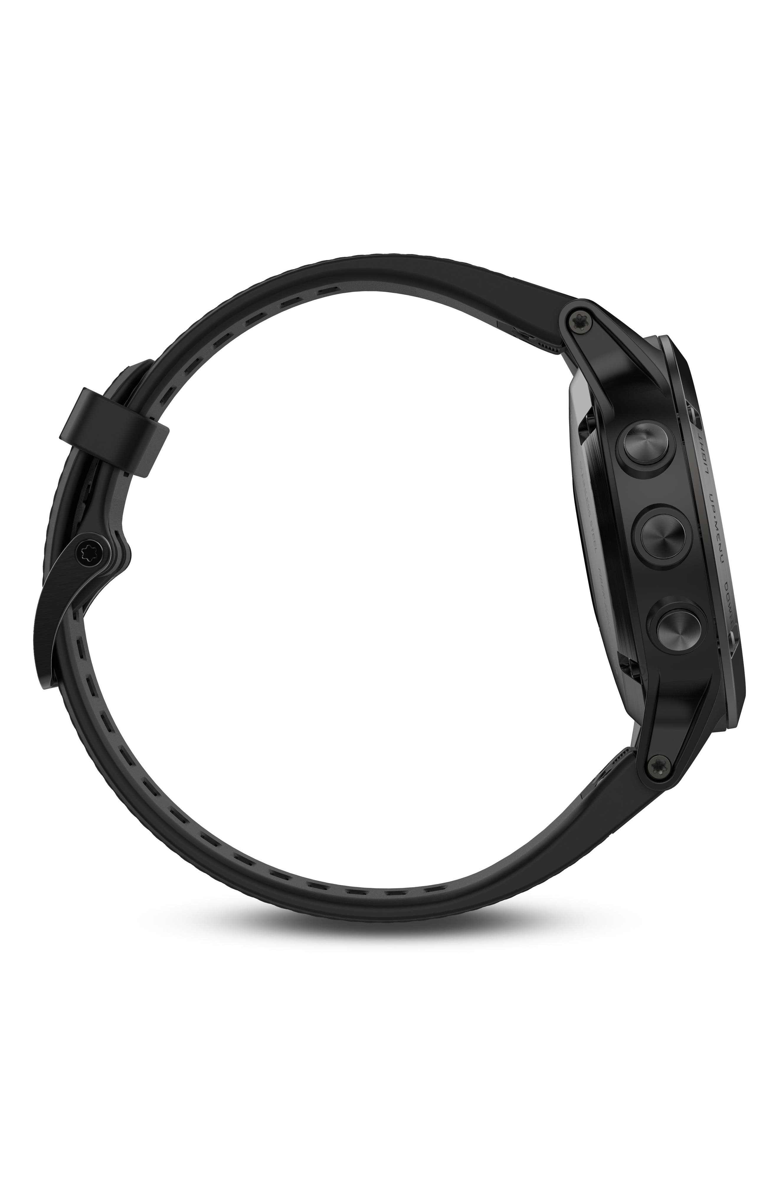 Alternate Image 3  - Garmin Fenix 5 Multisport GPS Smart Tracker Watch, 47mm