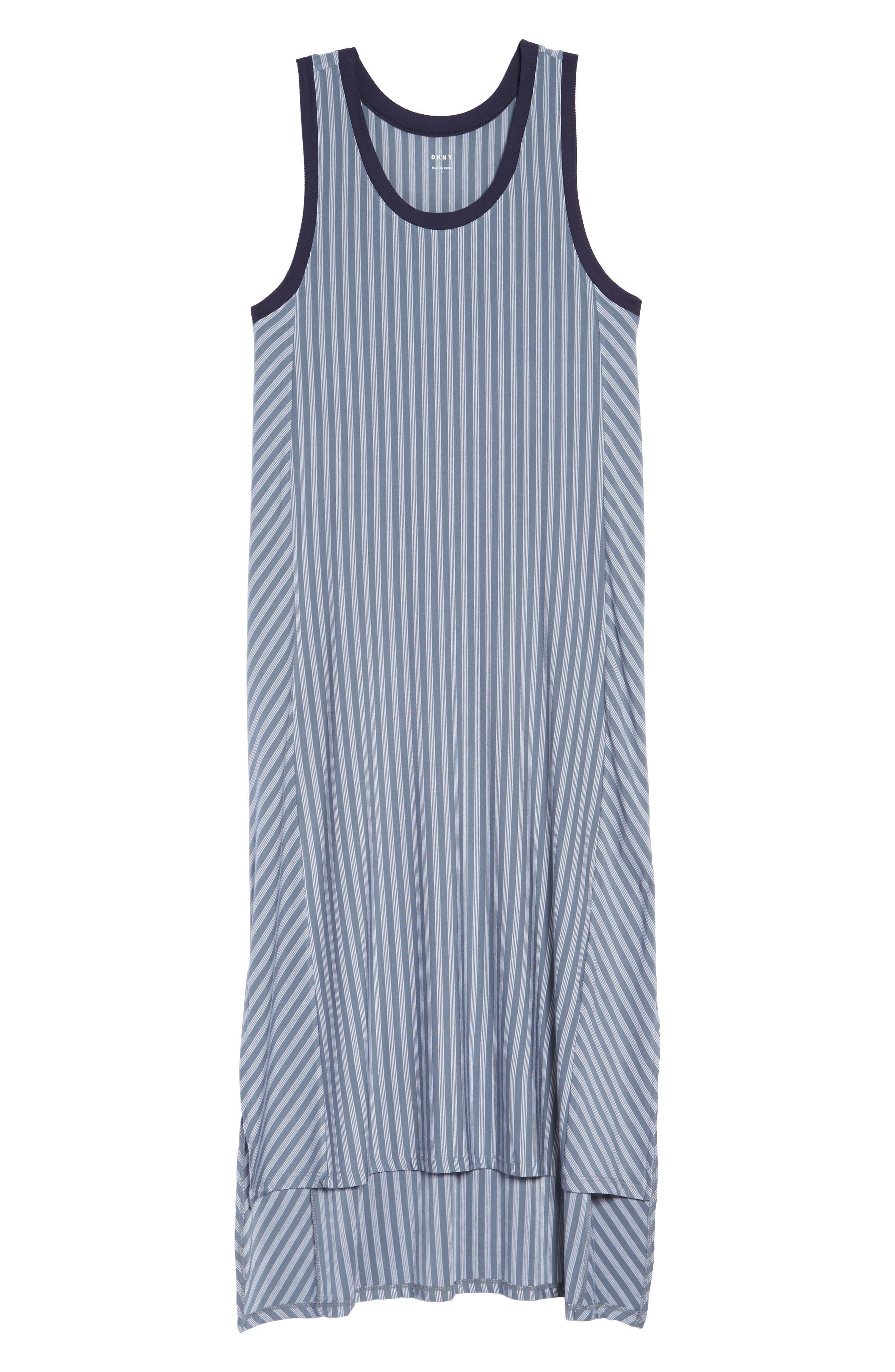 Long Chemise,                             Alternate thumbnail 4, color,                             Blue Stone Stripe