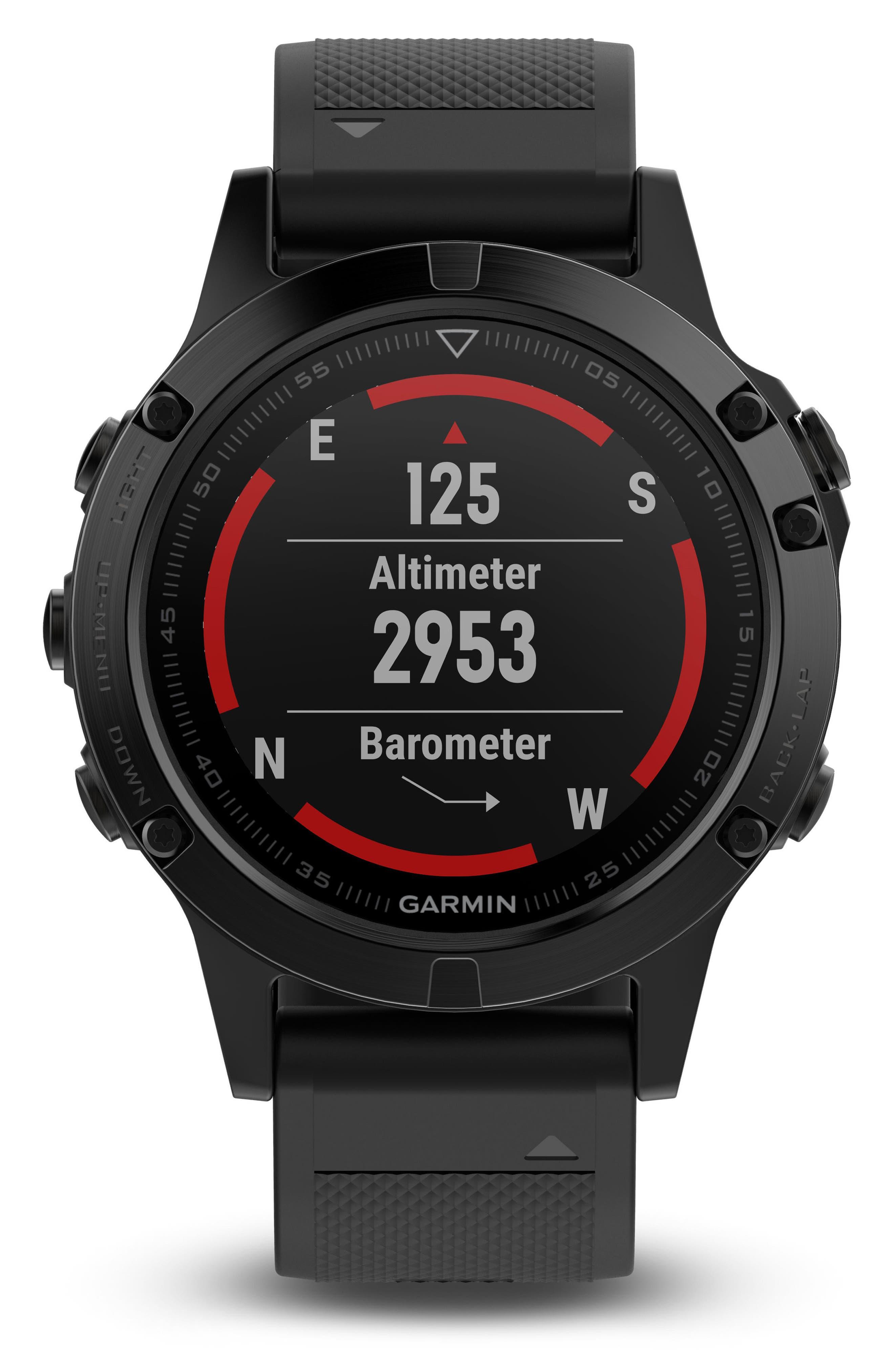 Alternate Image 8  - Garmin Fenix 5 Multisport GPS Smart Tracker Watch, 47mm
