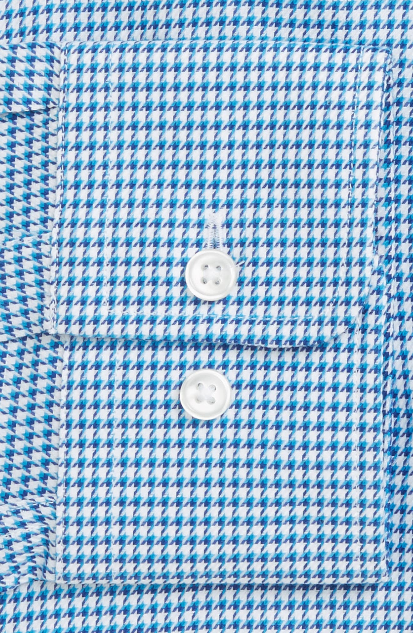 Mark Sharp Fit Houndstooth Dress Shirt,                             Alternate thumbnail 2, color,                             Turquoise/ Aqua