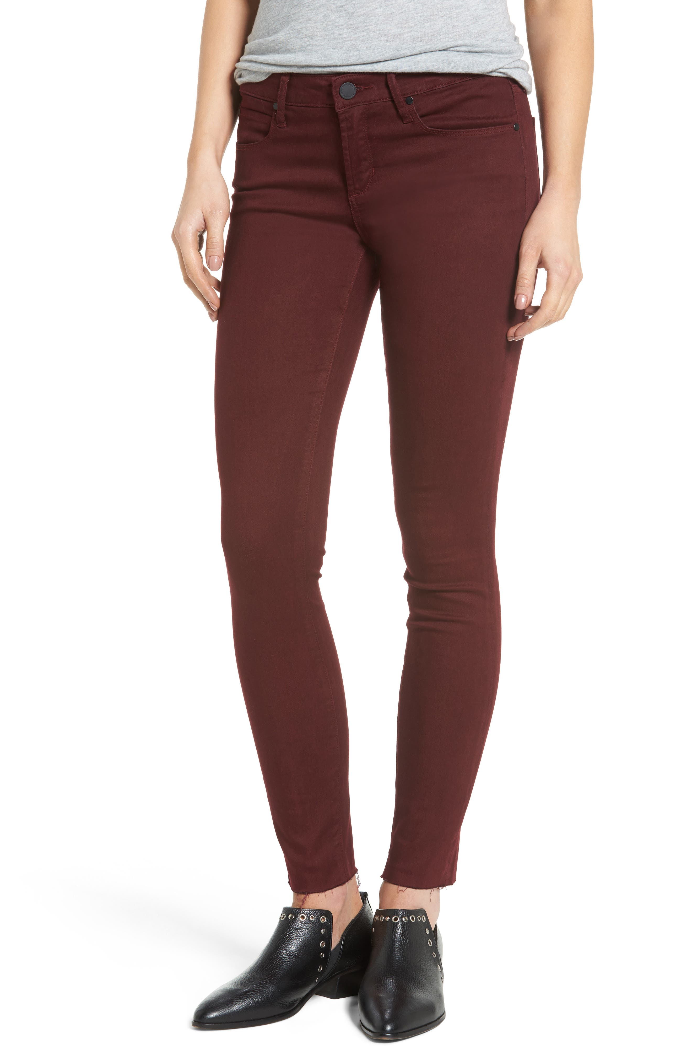 Main Image - Articles of Society Sarah Skinny Jeans (Red Eye)