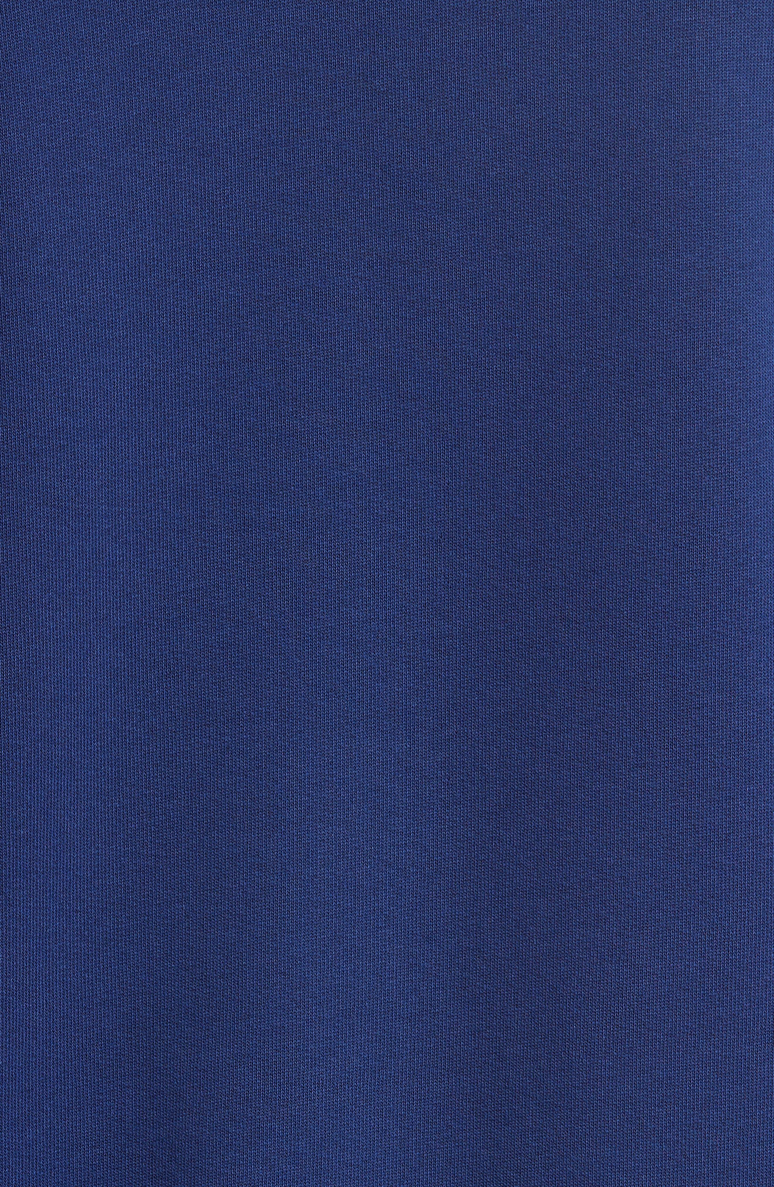 Embroidered Crewneck Sweatshirt,                             Alternate thumbnail 5, color,                             Blue