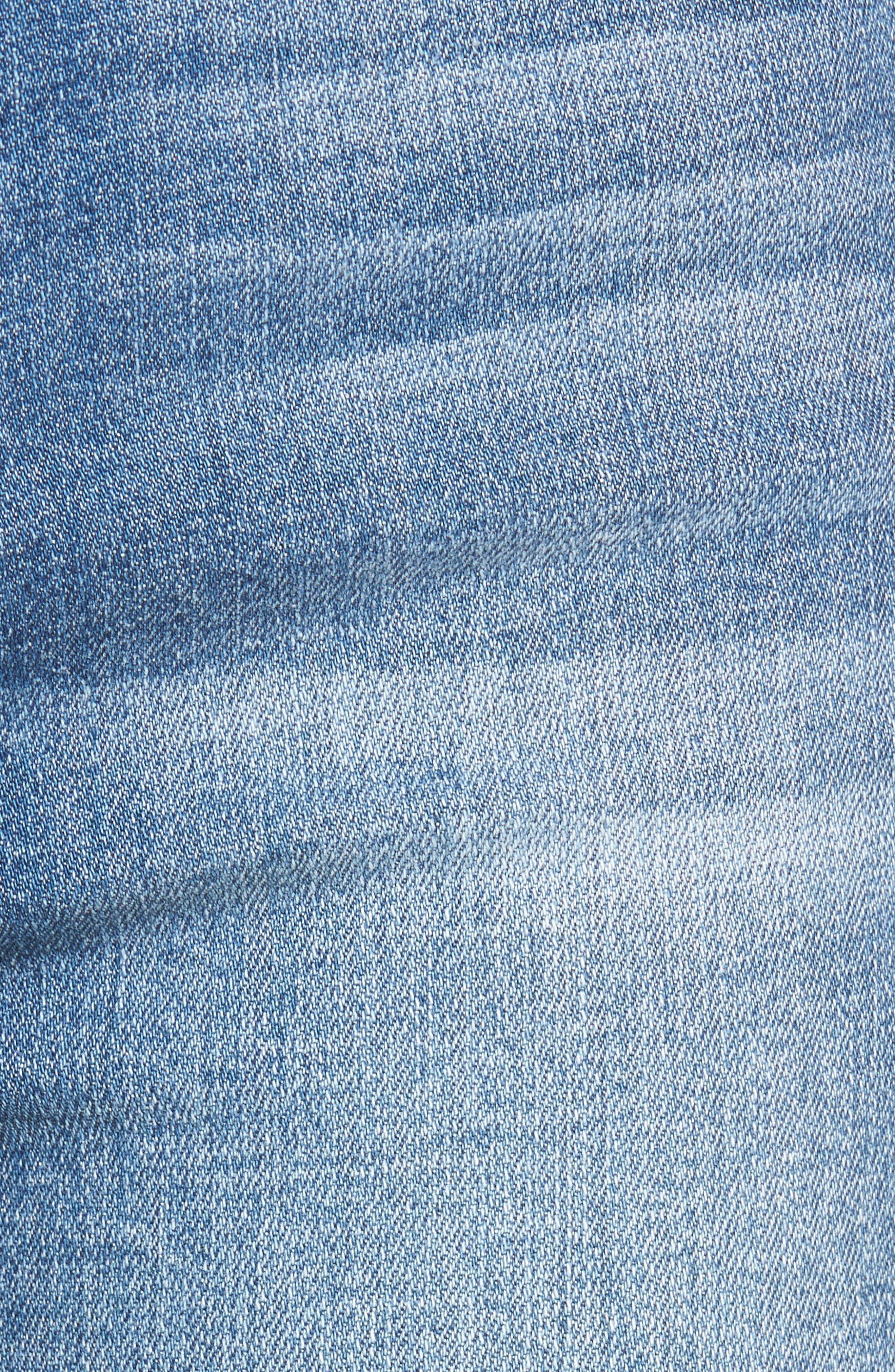Alternate Image 5  - SP Black Double Hem Skinny Jeans