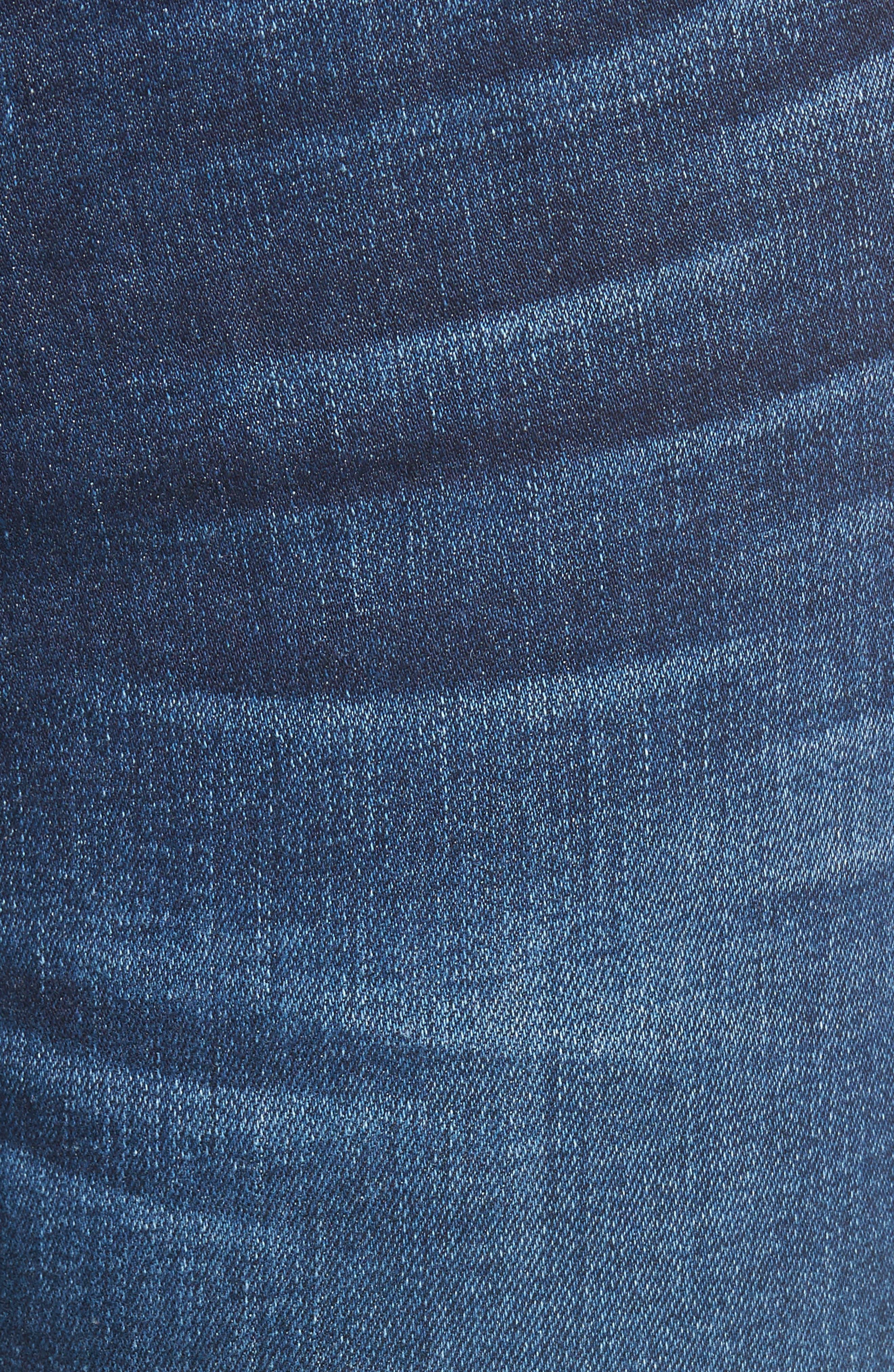 Emma Ankle Zip Skinny Jeans,                             Alternate thumbnail 5, color,                             Groveland