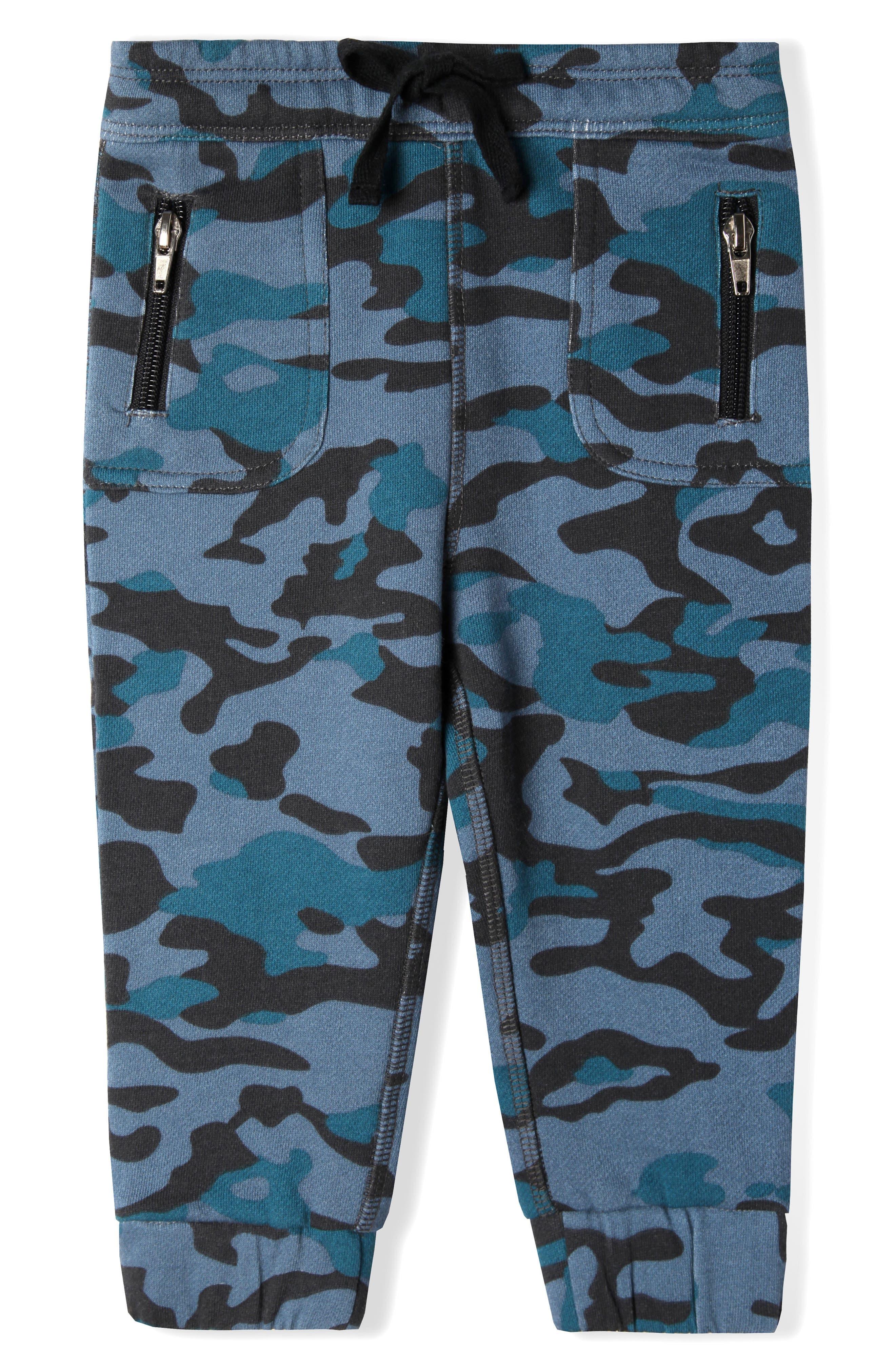Grand Organic Cotton Jogger Pants,                         Main,                         color, Navy Camo