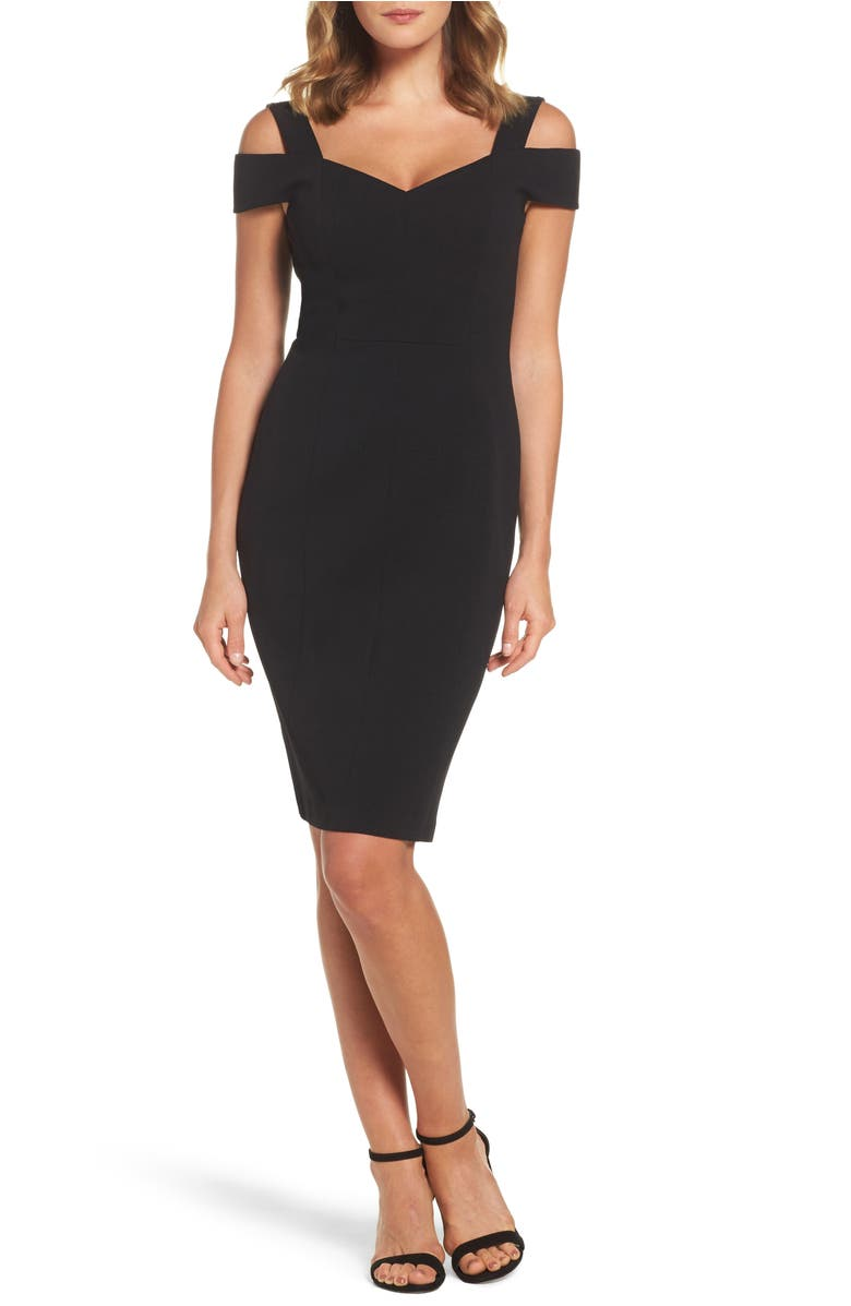 Eliza J  COLD SHOULDER SHEATH COCKTAIL DRESS