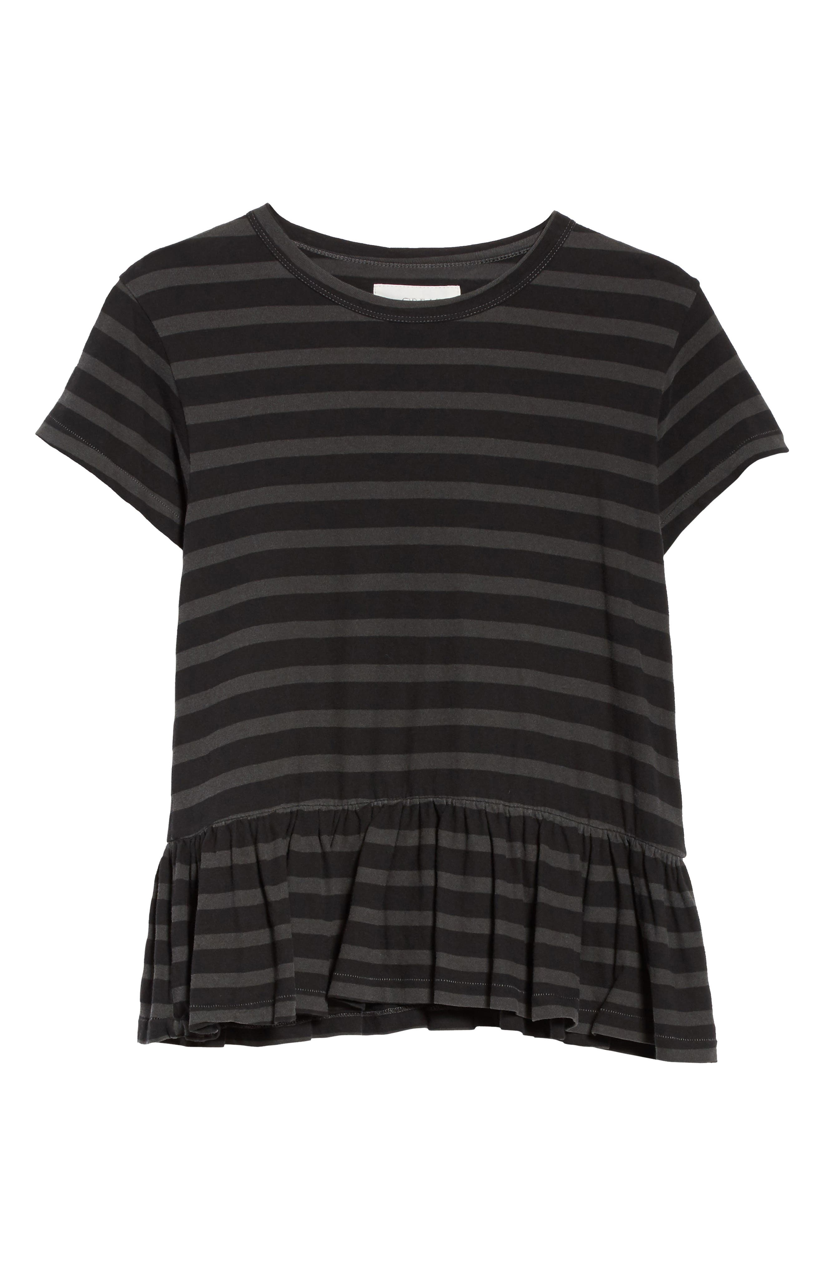 Alternate Image 6  - THE GREAT. The Ruffle Stripe Tee