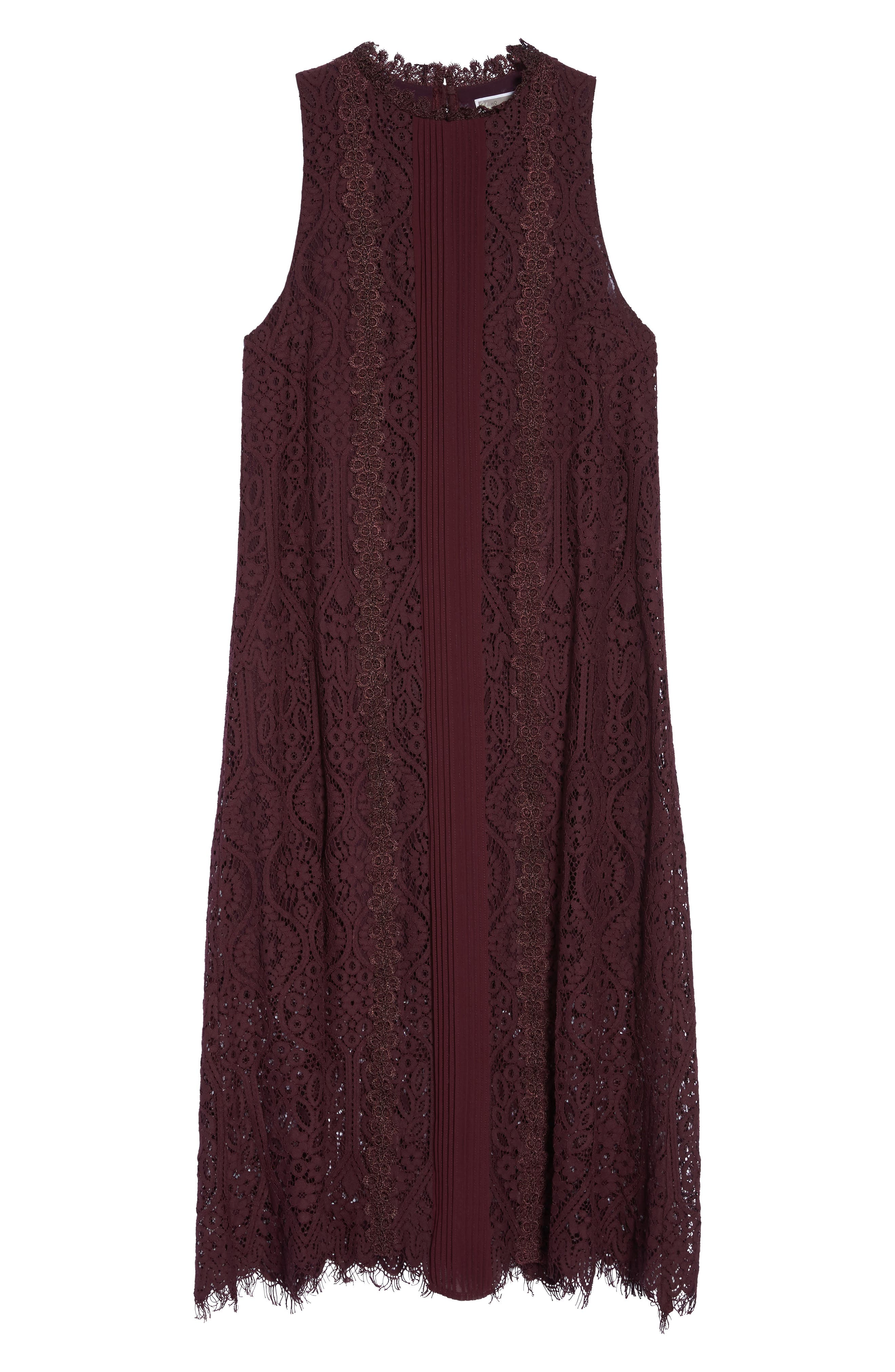 Alternate Image 7  - Chelsea28 Lace Pleated Midi Dress