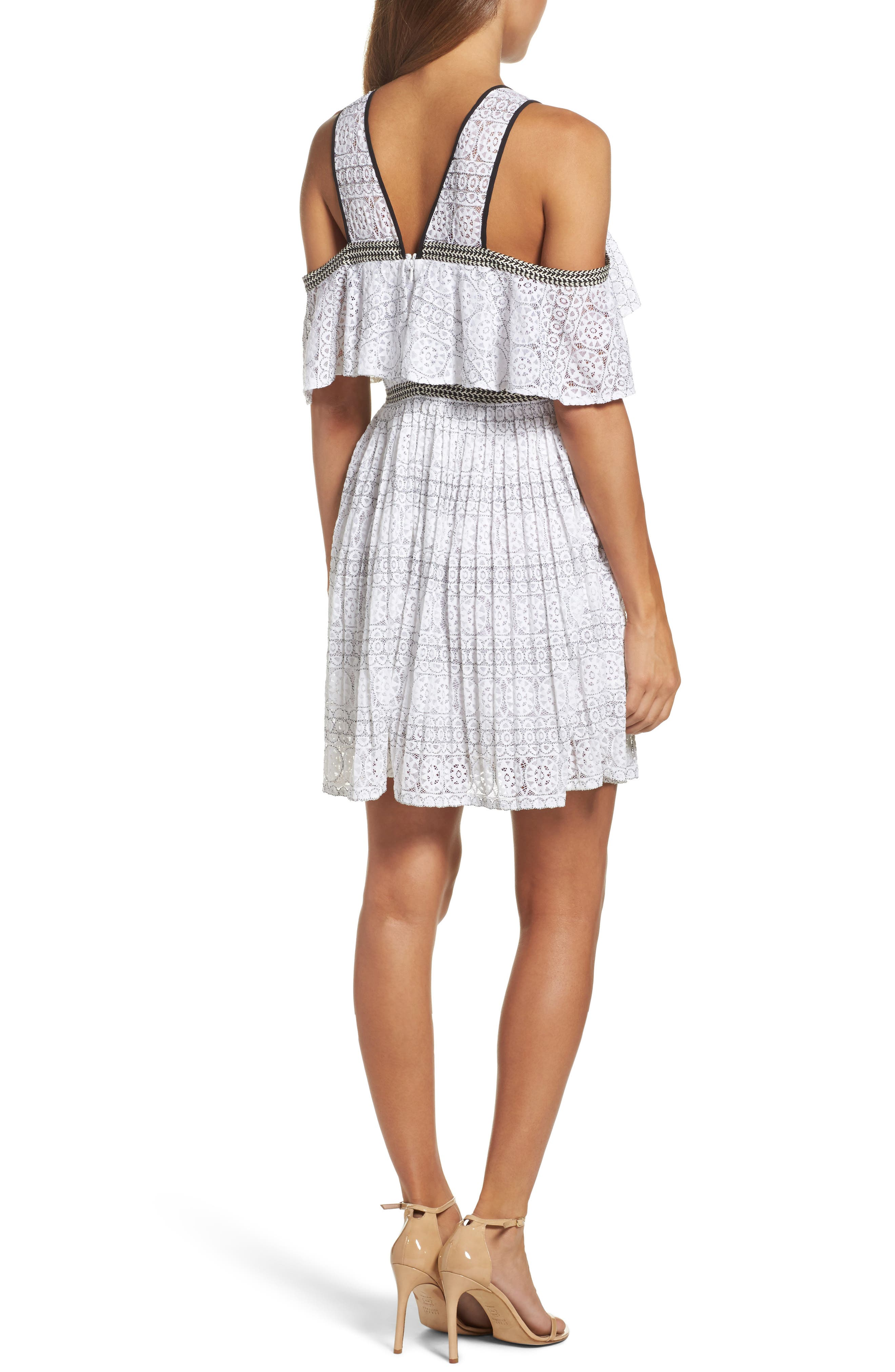 Alternate Image 2  - Foxiedox Belinda Lace Cold Shoulder Dress