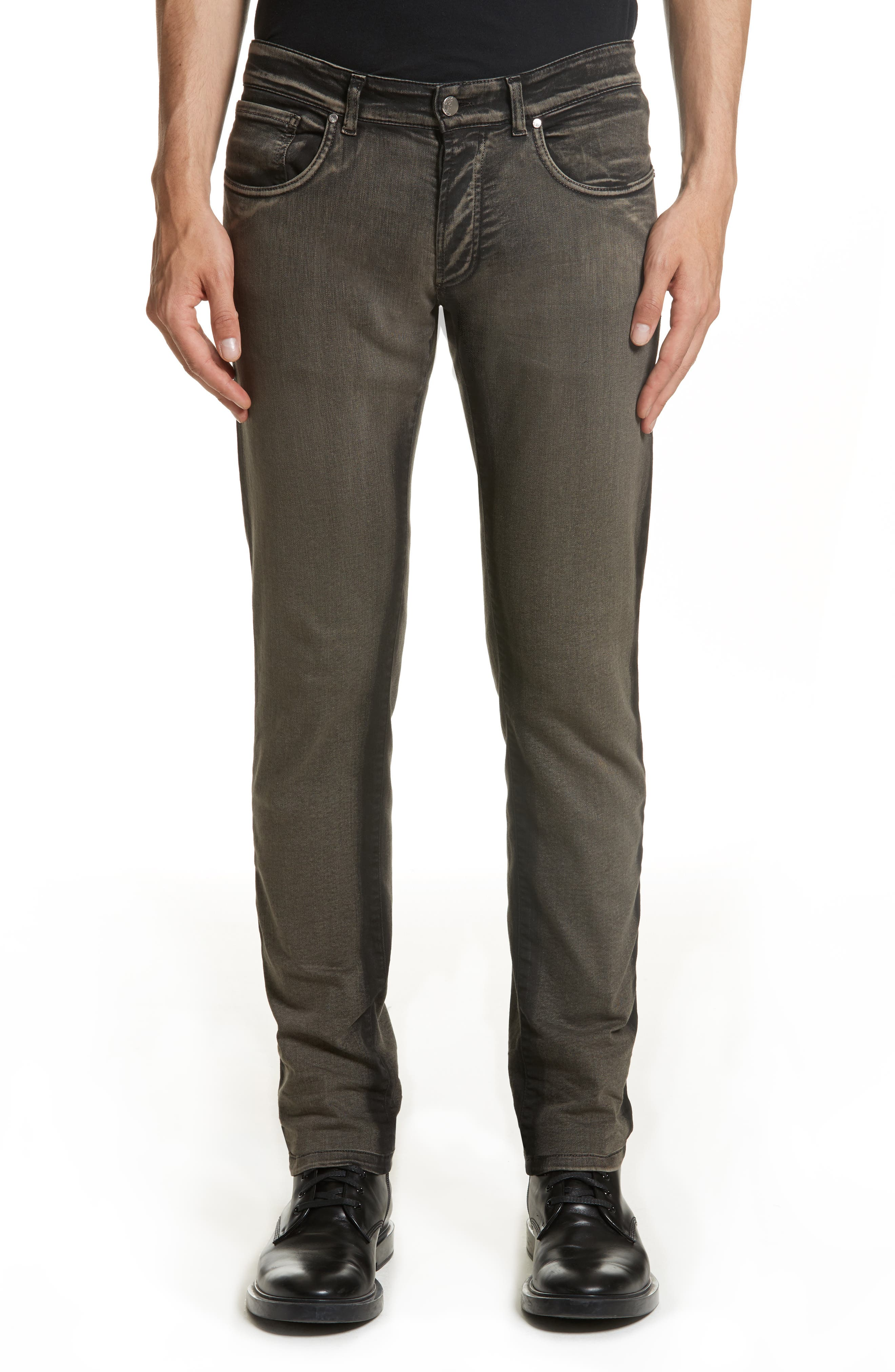 Destroyed Slim Jeans,                         Main,                         color, Beige