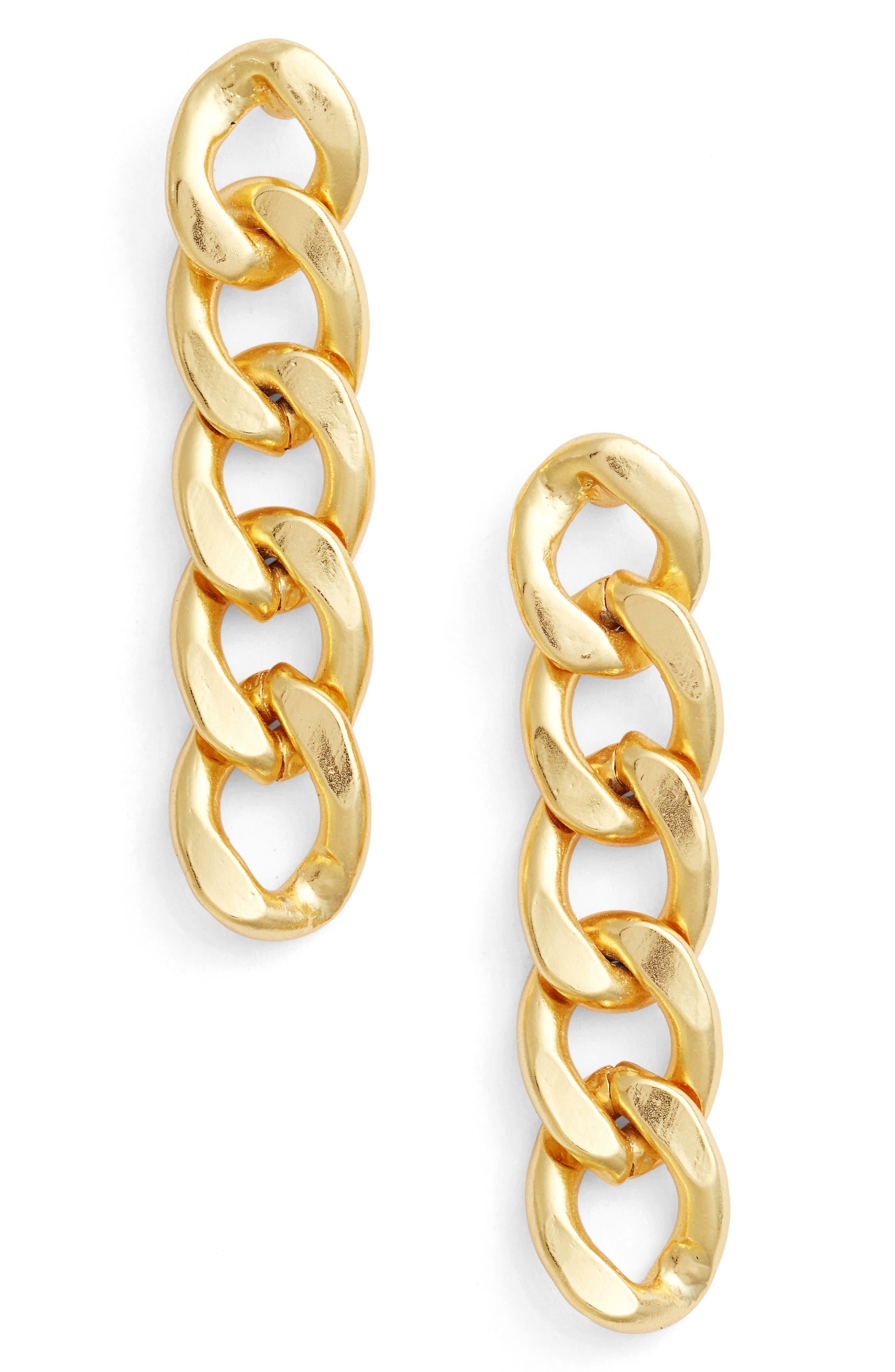 Karine Sultan Linear Earrings