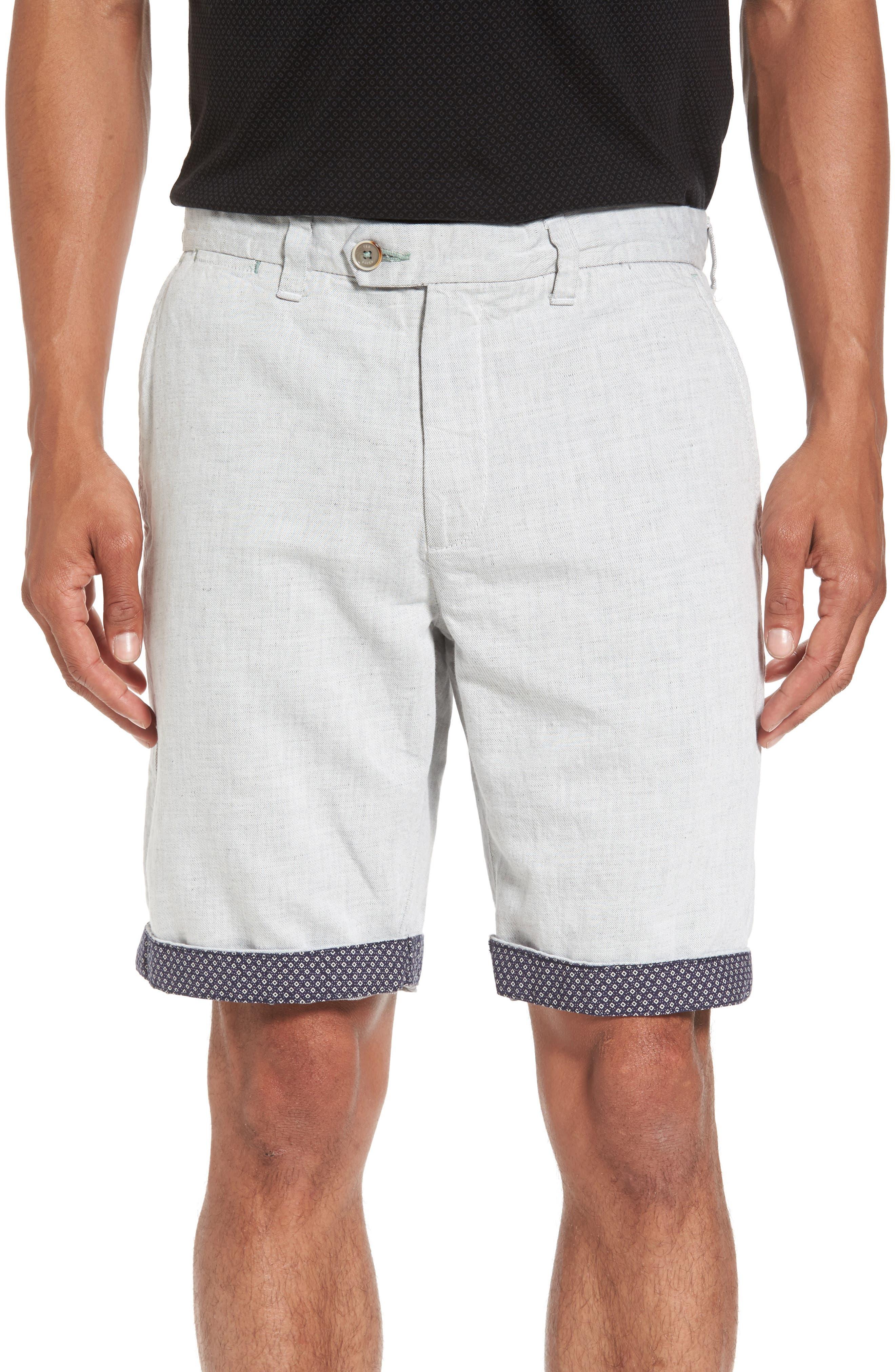 Frisho Cuff Denim Shorts,                             Alternate thumbnail 5, color,                             Light Grey
