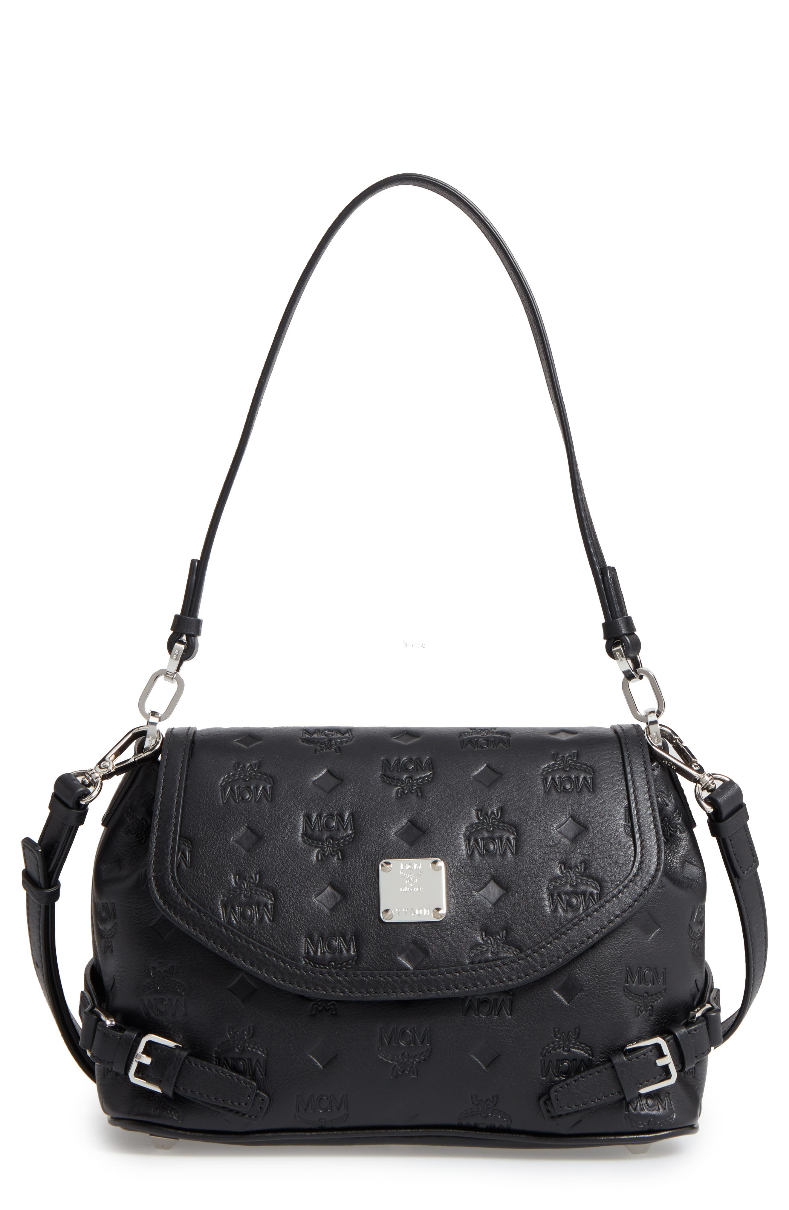 Alternate Image 1 Selected - MCM Signature Monogram Embossed Leather Shoulder/Crossbody Bag