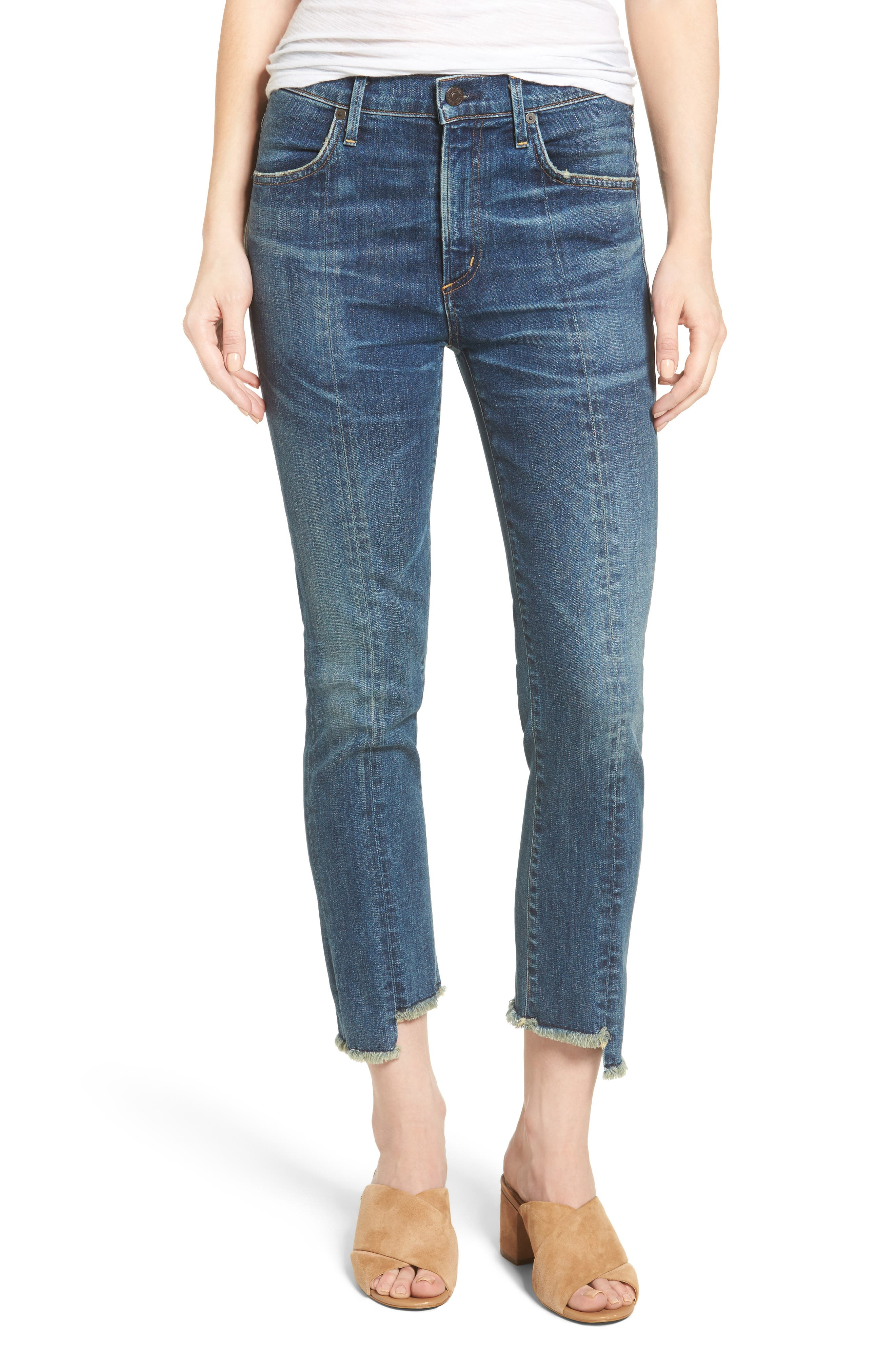 Alternate Image 1 Selected - Citizens of Humanity Amari Step Hem Ankle Jeans (Alterra)