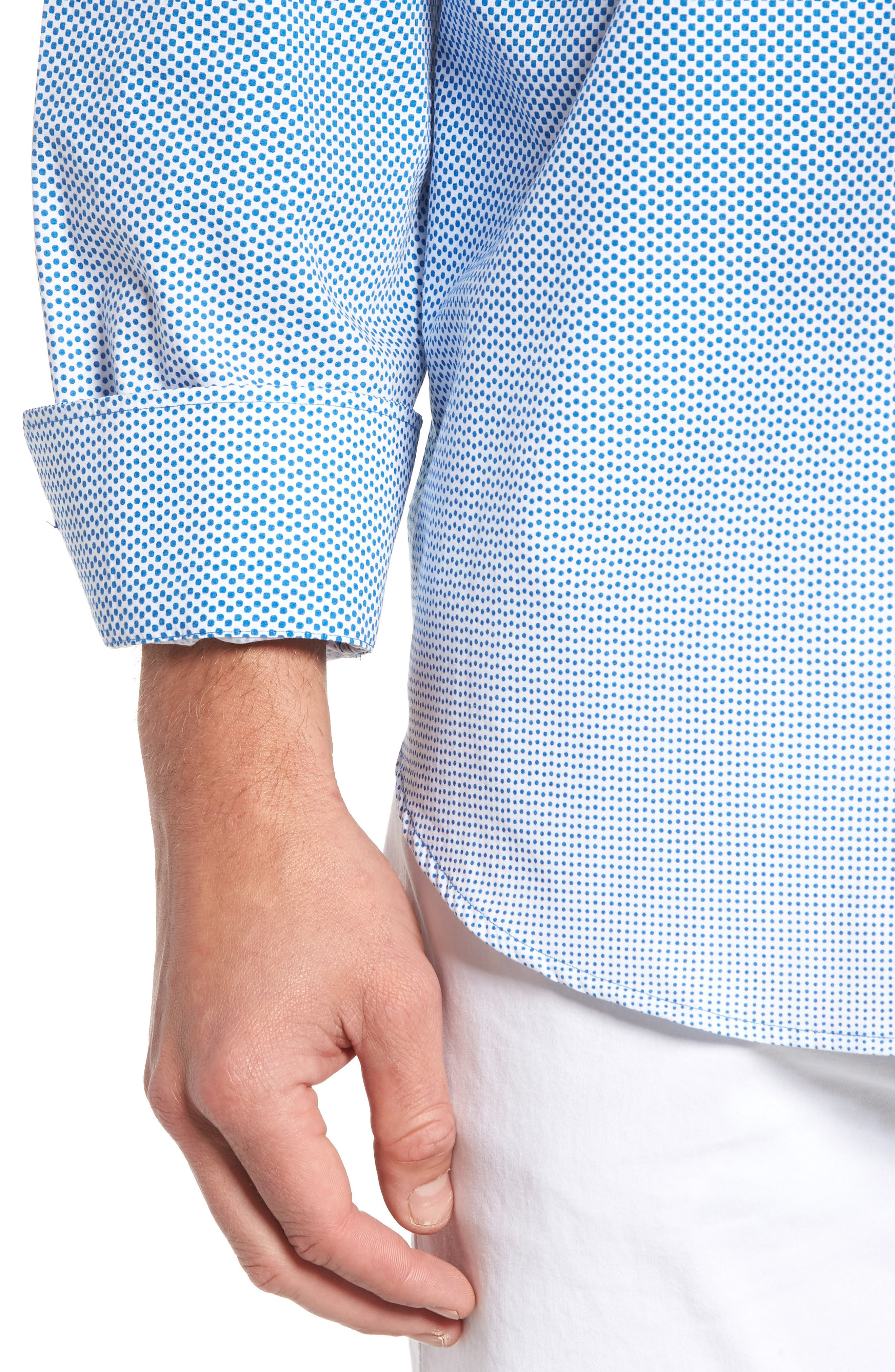 Alternate Image 4  - Bugatchi Print Sport Shirt