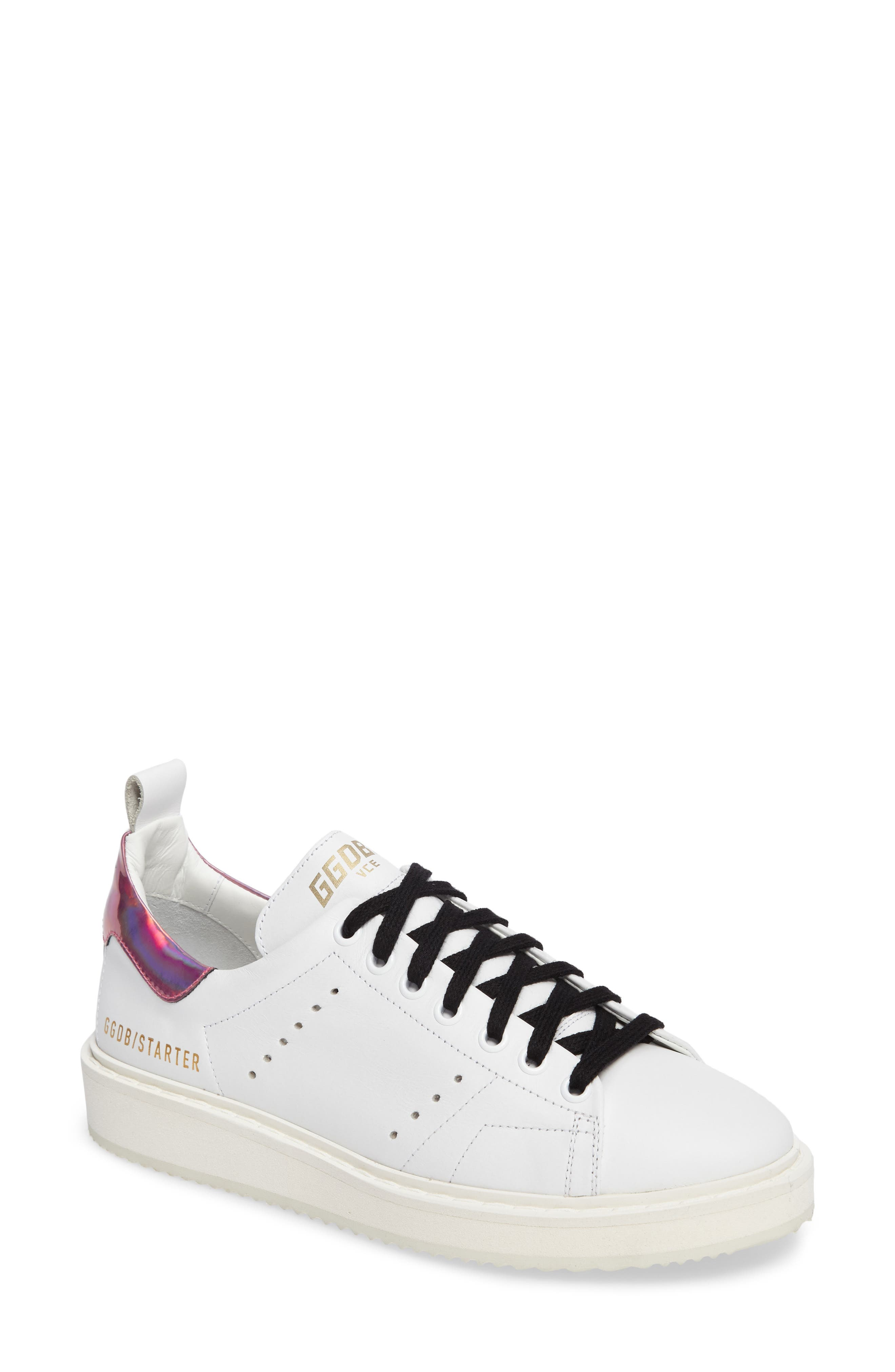 Starter Low Top Sneaker,                             Main thumbnail 1, color,                             White/ Pink Jelly