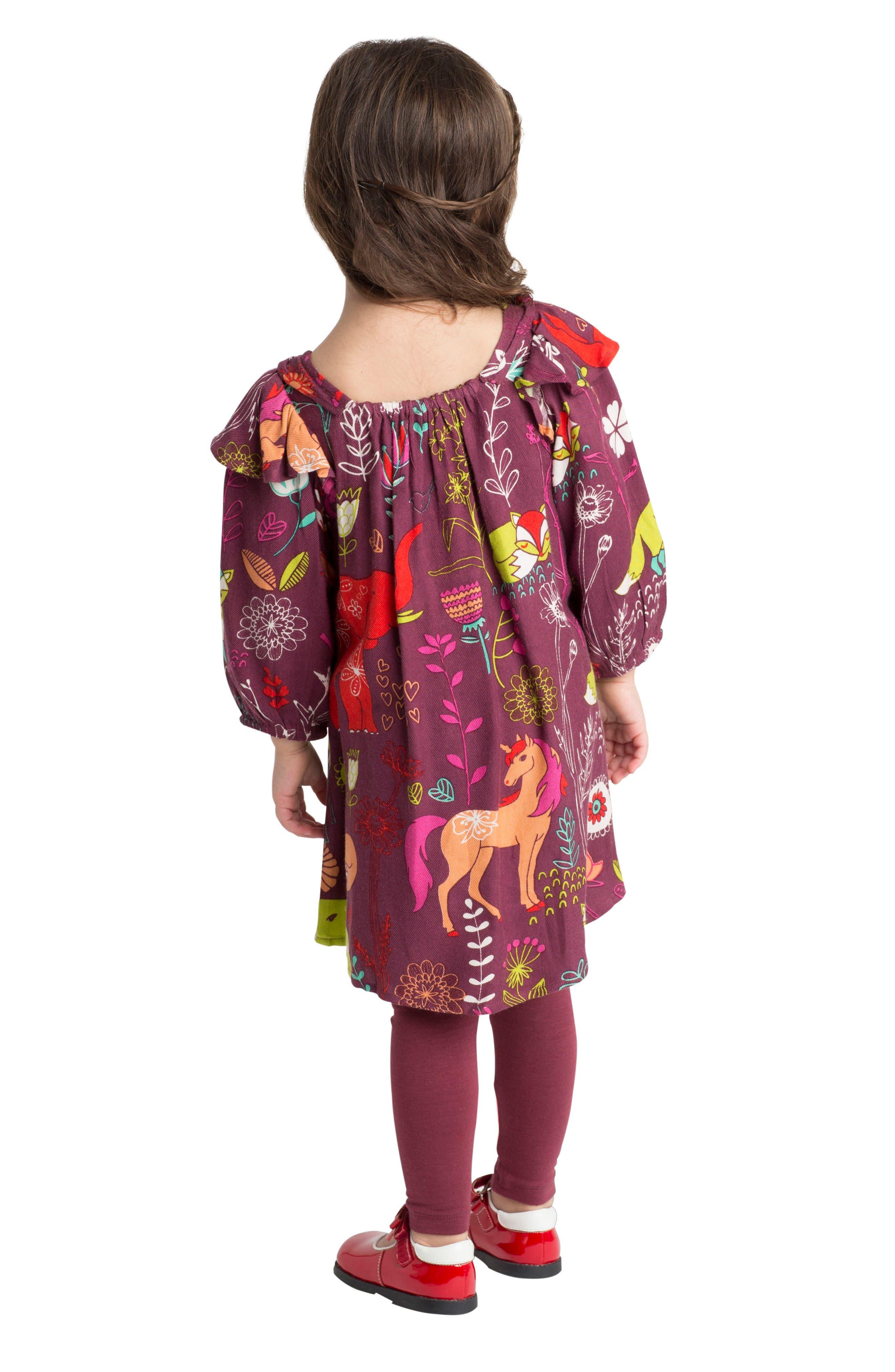 Alternate Image 3  - Masasla Baby Anais Magical Forest Dress (Baby Girls)