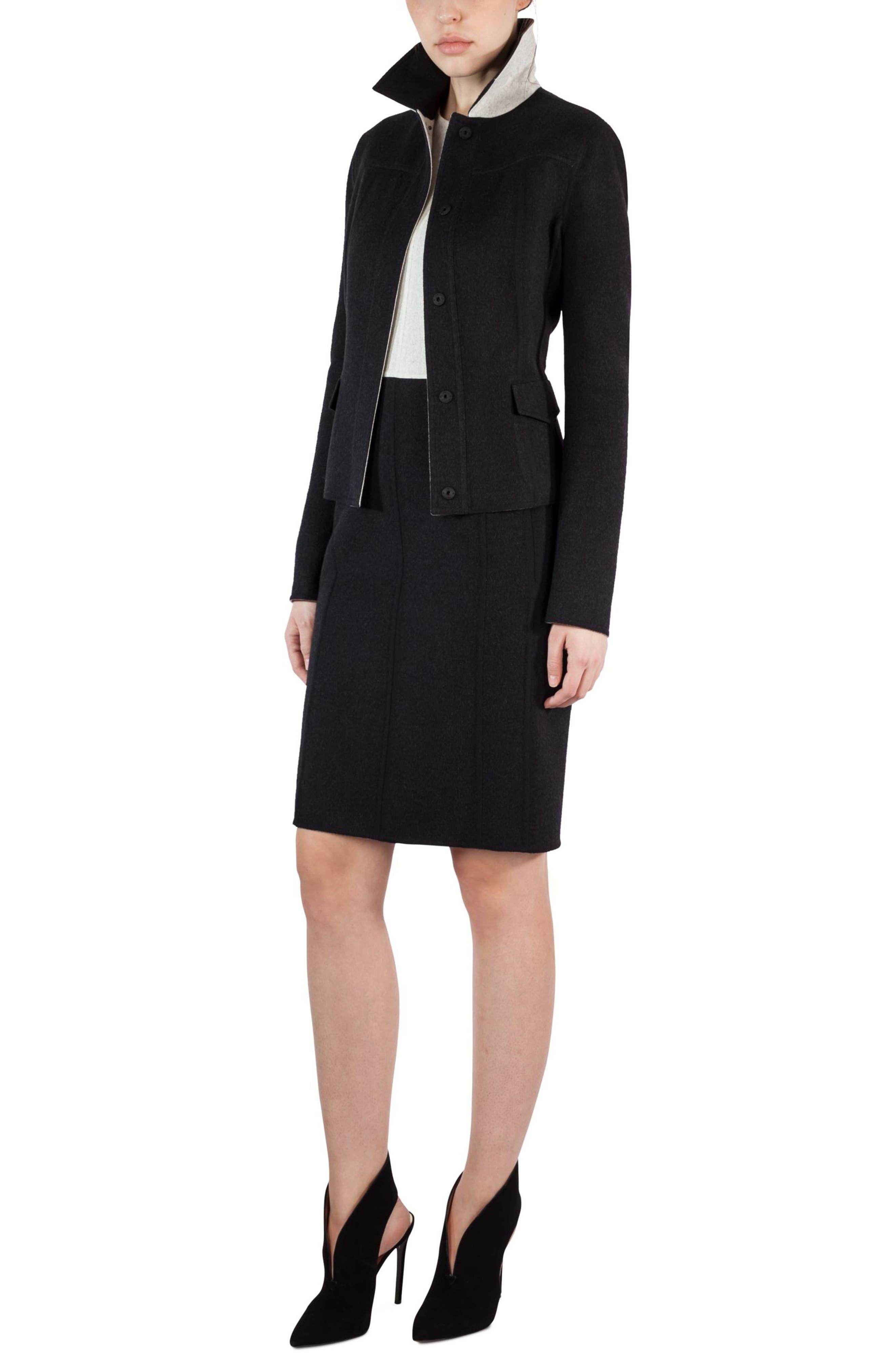 Alternate Image 5  - Akris Double Face Wool Reversible Bicolor Jacket