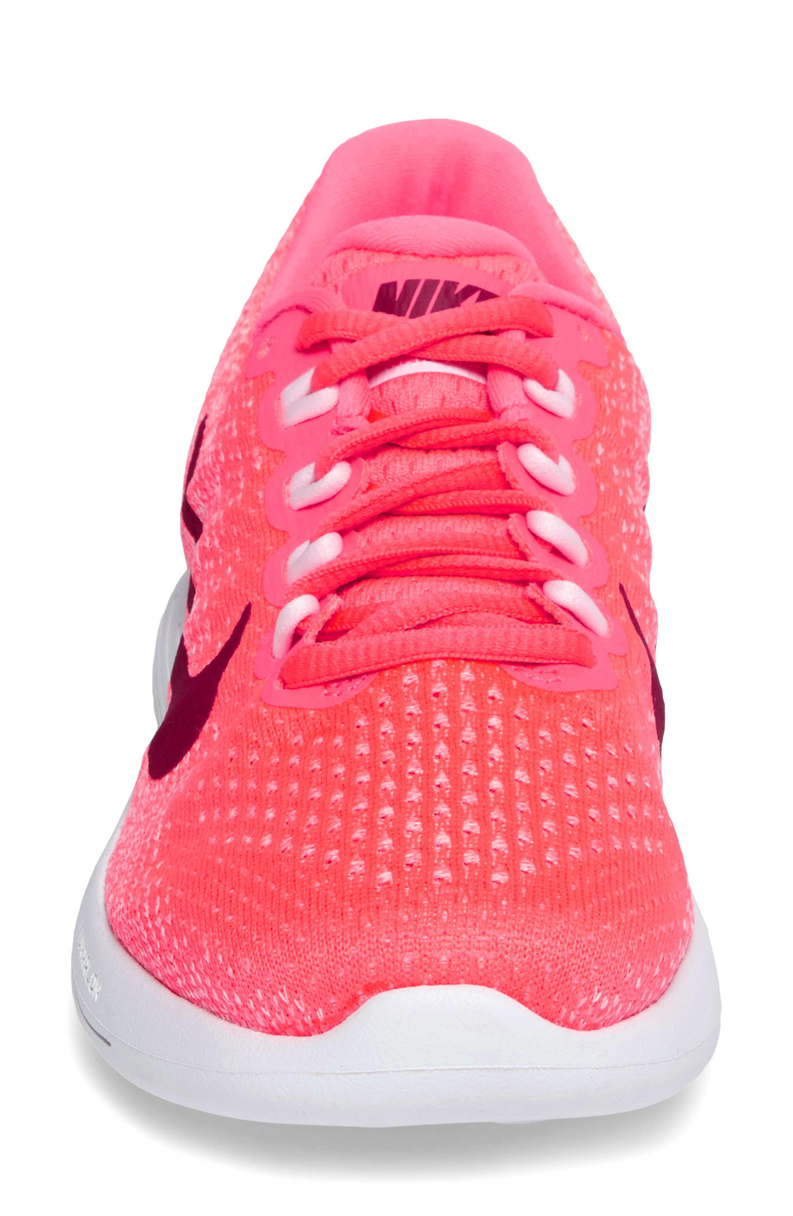 LunarGlide 9 Running Shoe,                             Alternate thumbnail 3, color,                             Hot Punch/ Noble Red/ Arctic