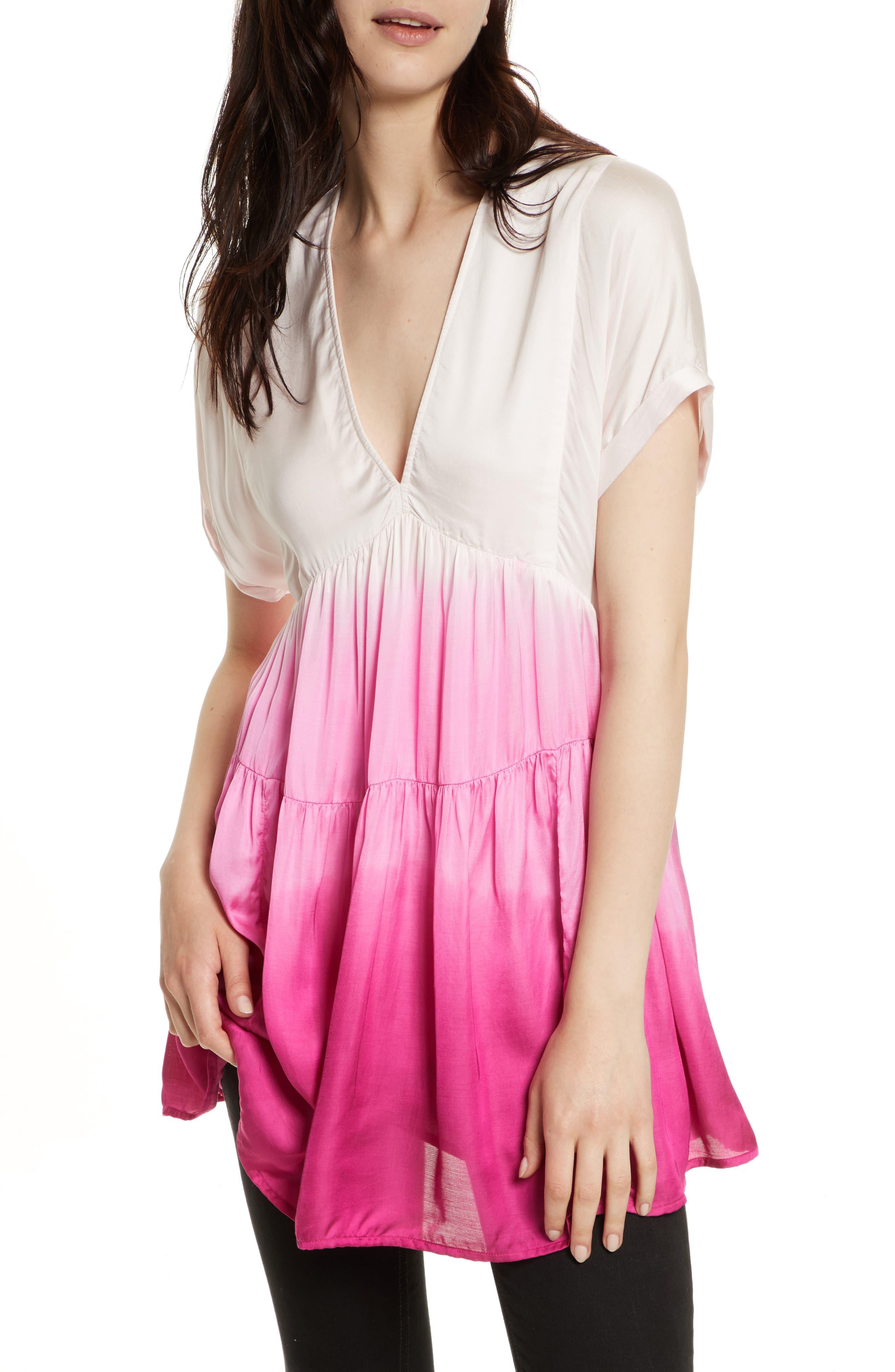 Free People Sun Up Tie Dye Tunic Dress