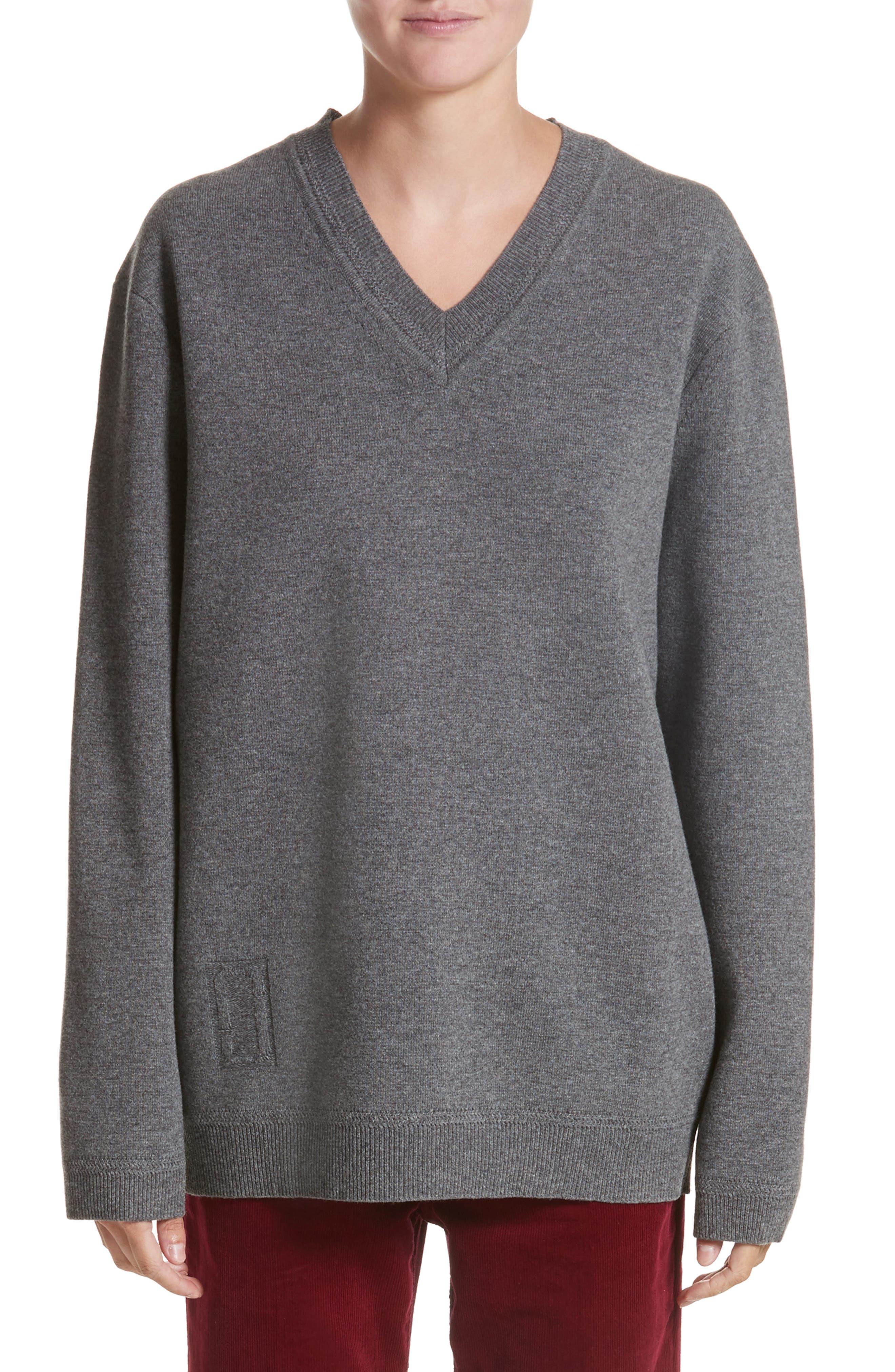 Wool & Cashmere Sweater,                         Main,                         color, Grey Melange