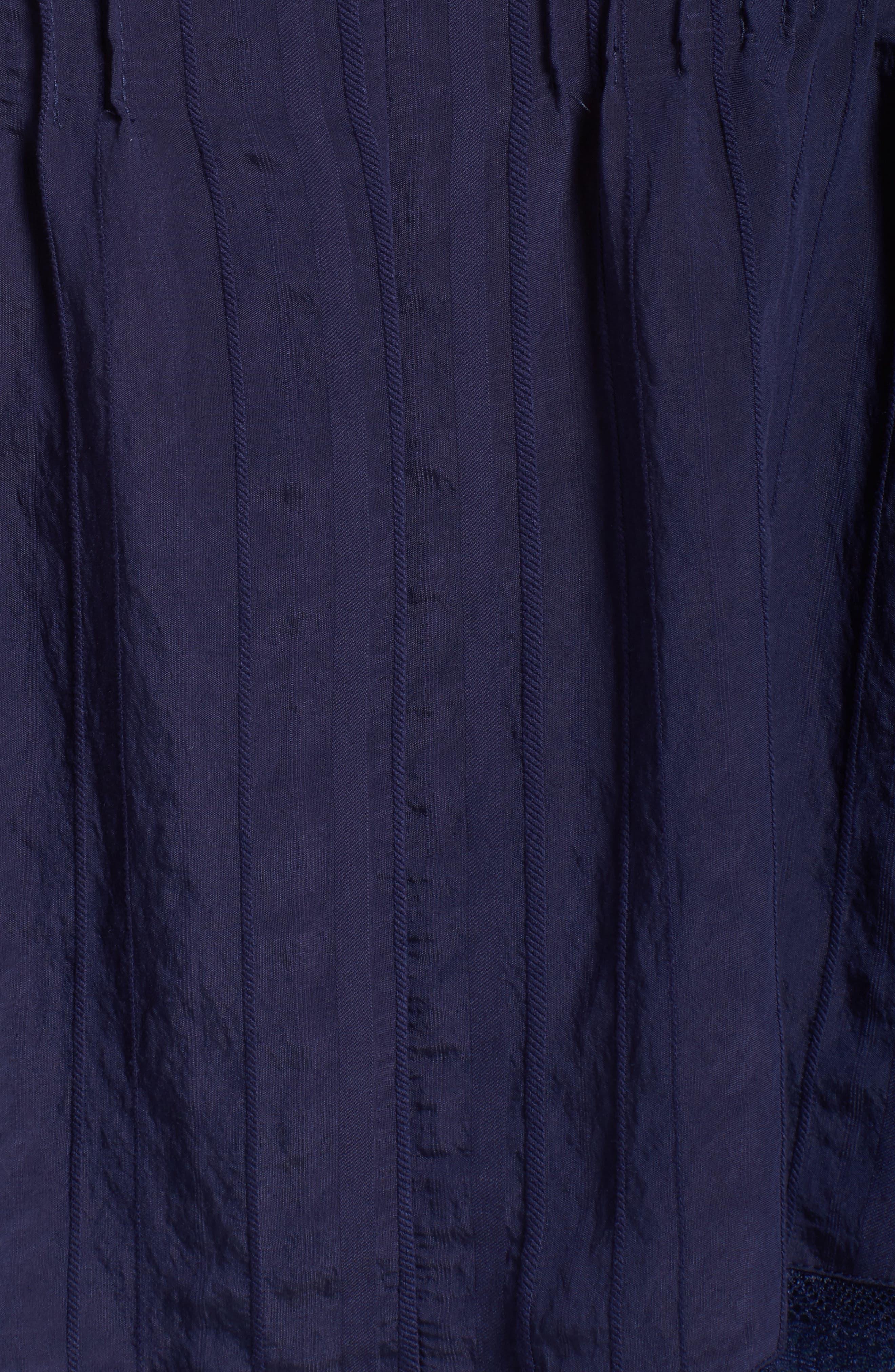 Alternate Image 5  - Sejour Lace Trim Pintuck Pleated Top (Plus Size)