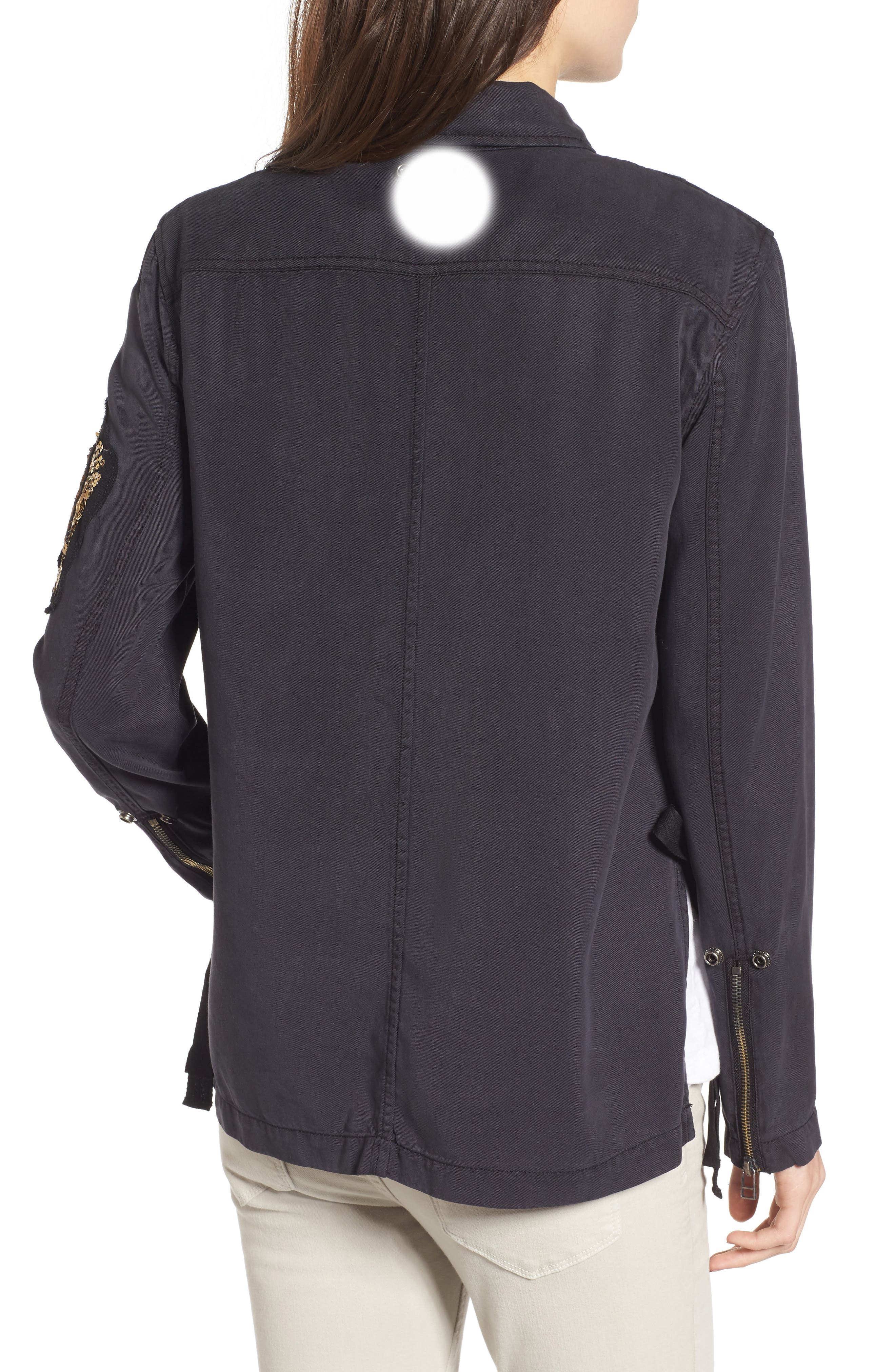 Alternate Image 2  - Pam & Gela Cargo Jacket with Crest Patch