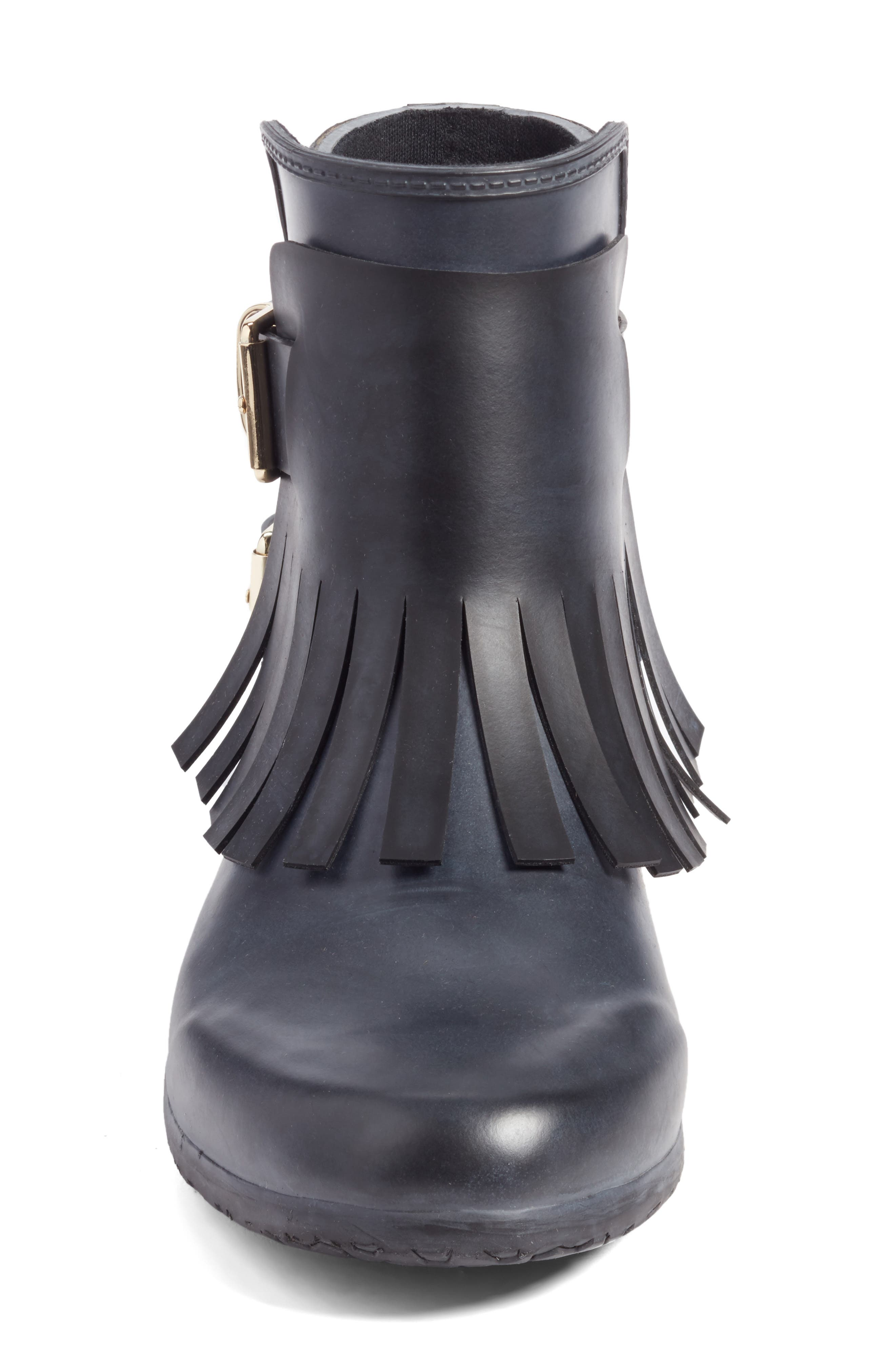 Alternate Image 4  - Burberry Fringe Short Rain Bootie (Women)