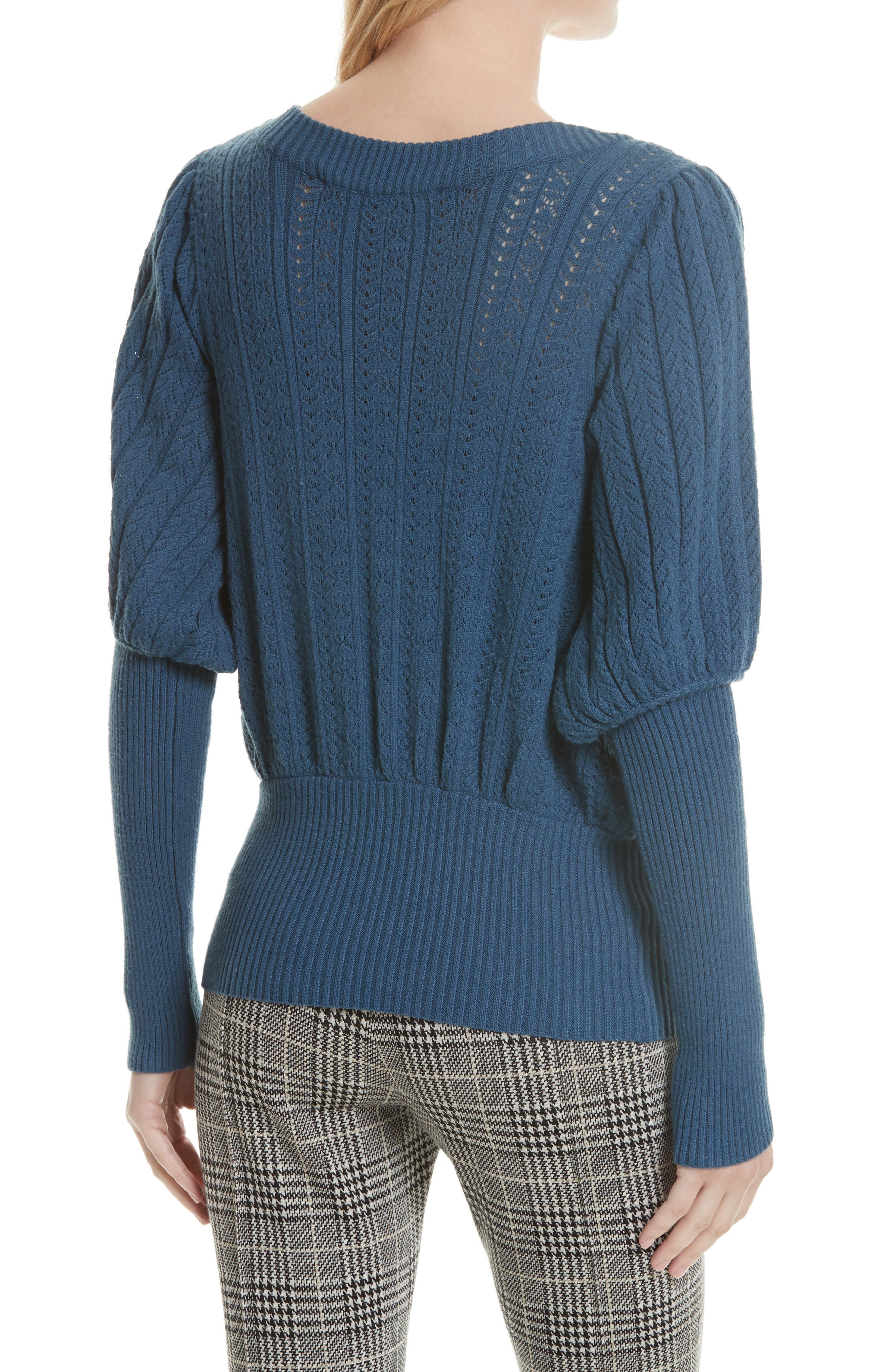 Alternate Image 2  - Tracy Reese Pointelle Knit Surplice Sweater