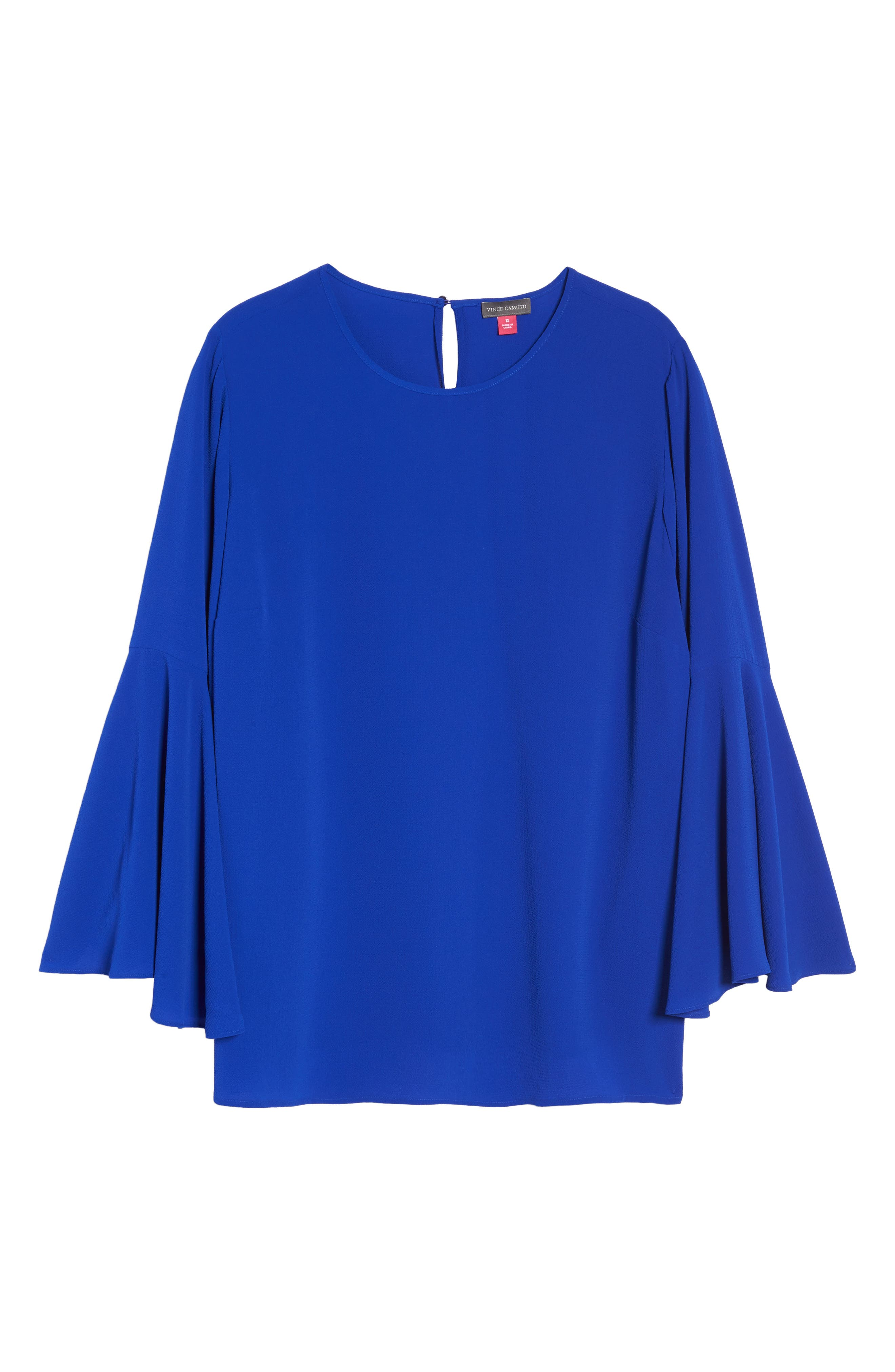 Alternate Image 6  - Vince Camuto Bell Sleeve Blouse (Plus Size)