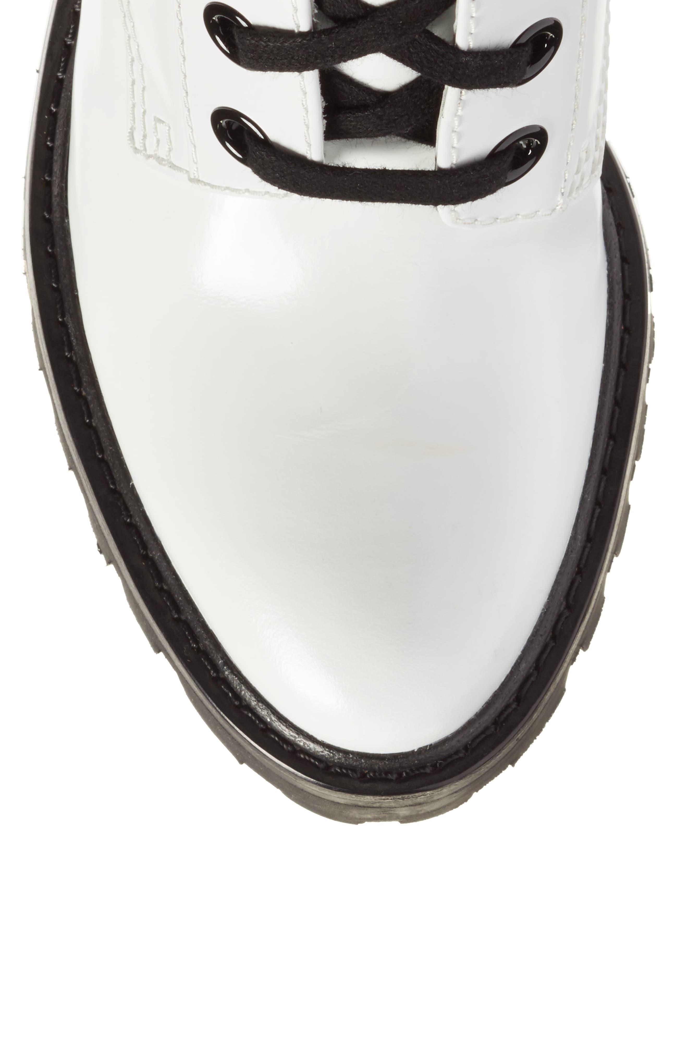Ryder Block Heel Boot,                             Alternate thumbnail 5, color,                             White