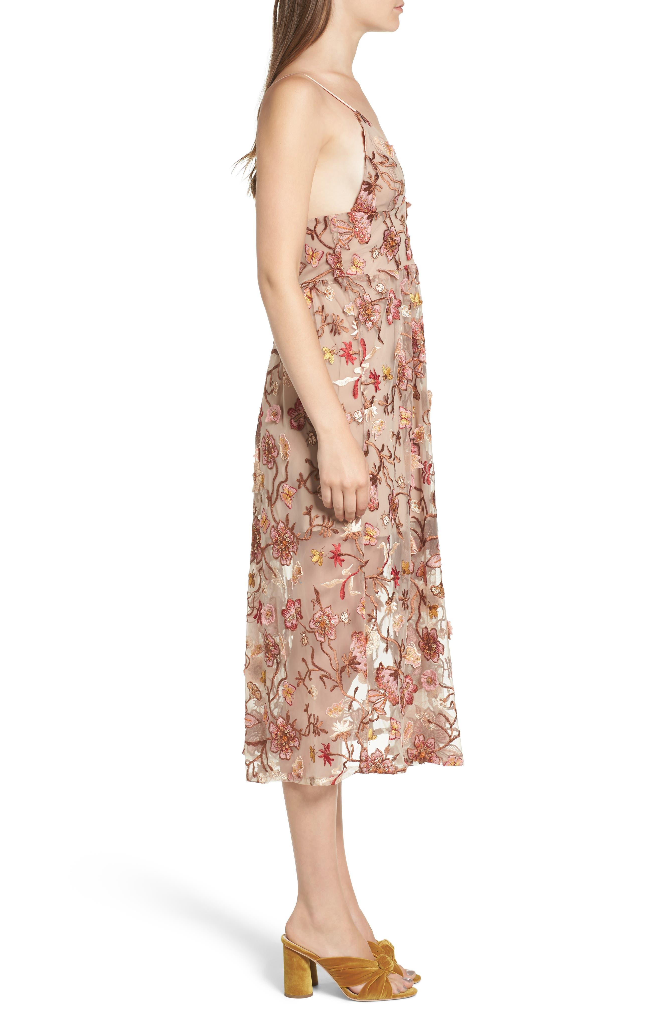 Alternate Image 3  - For Love & Lemons Botanic Midi Dress