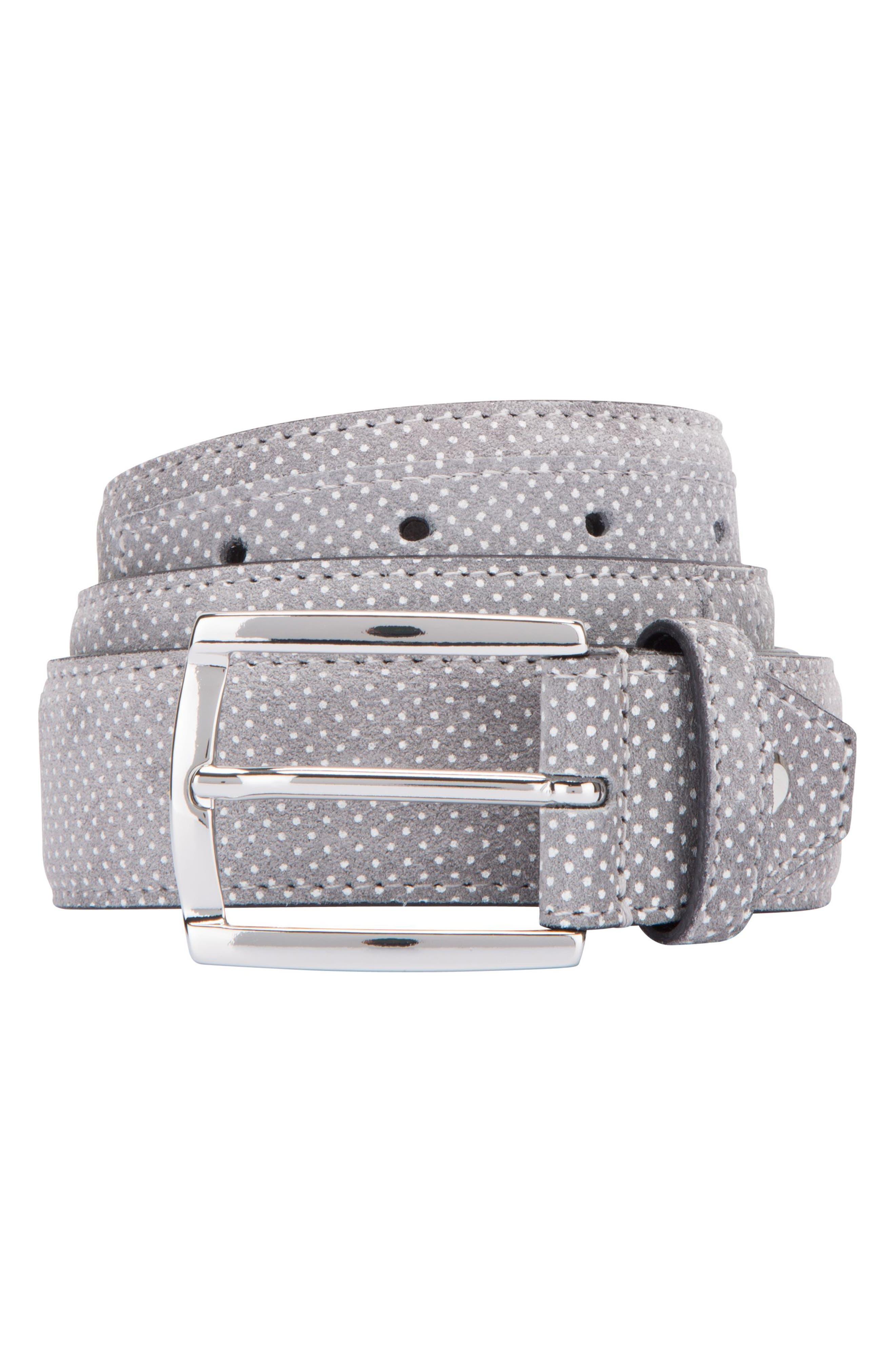 Main Image - Bugatchi Dot Print Leather Belt