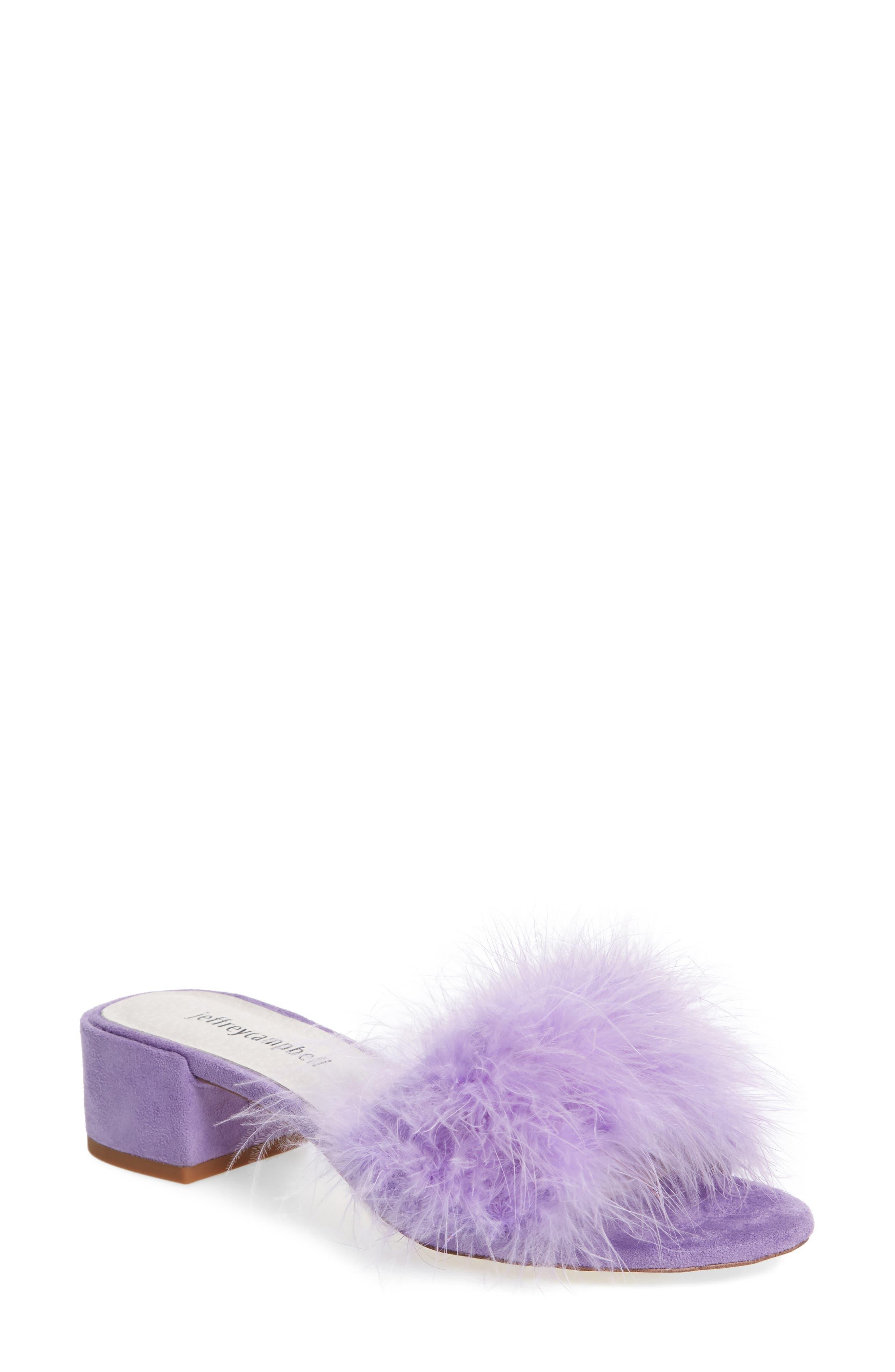 'Beaton' Slide Sandal,                         Main,                         color, Lilac Suede