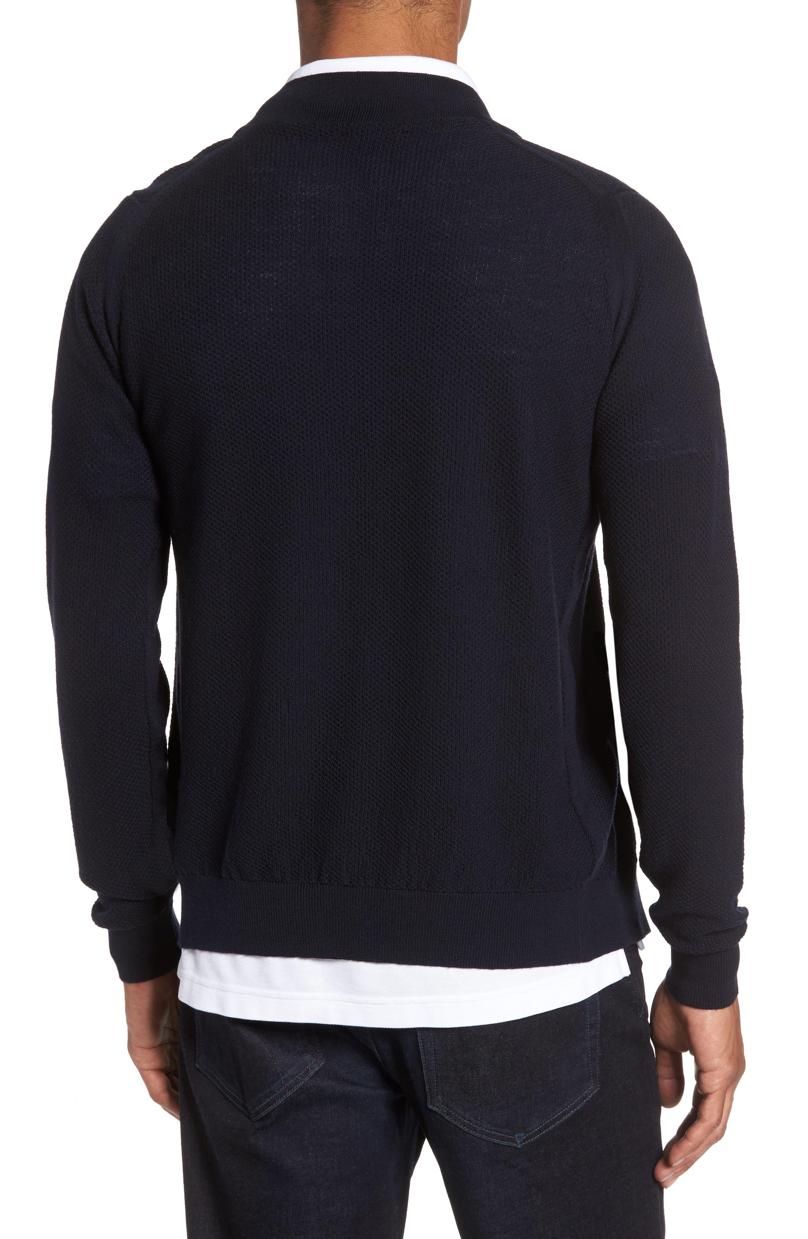 Alternate Image 2  - John Smedley Standard Fit Merino Wool Knit Jacket
