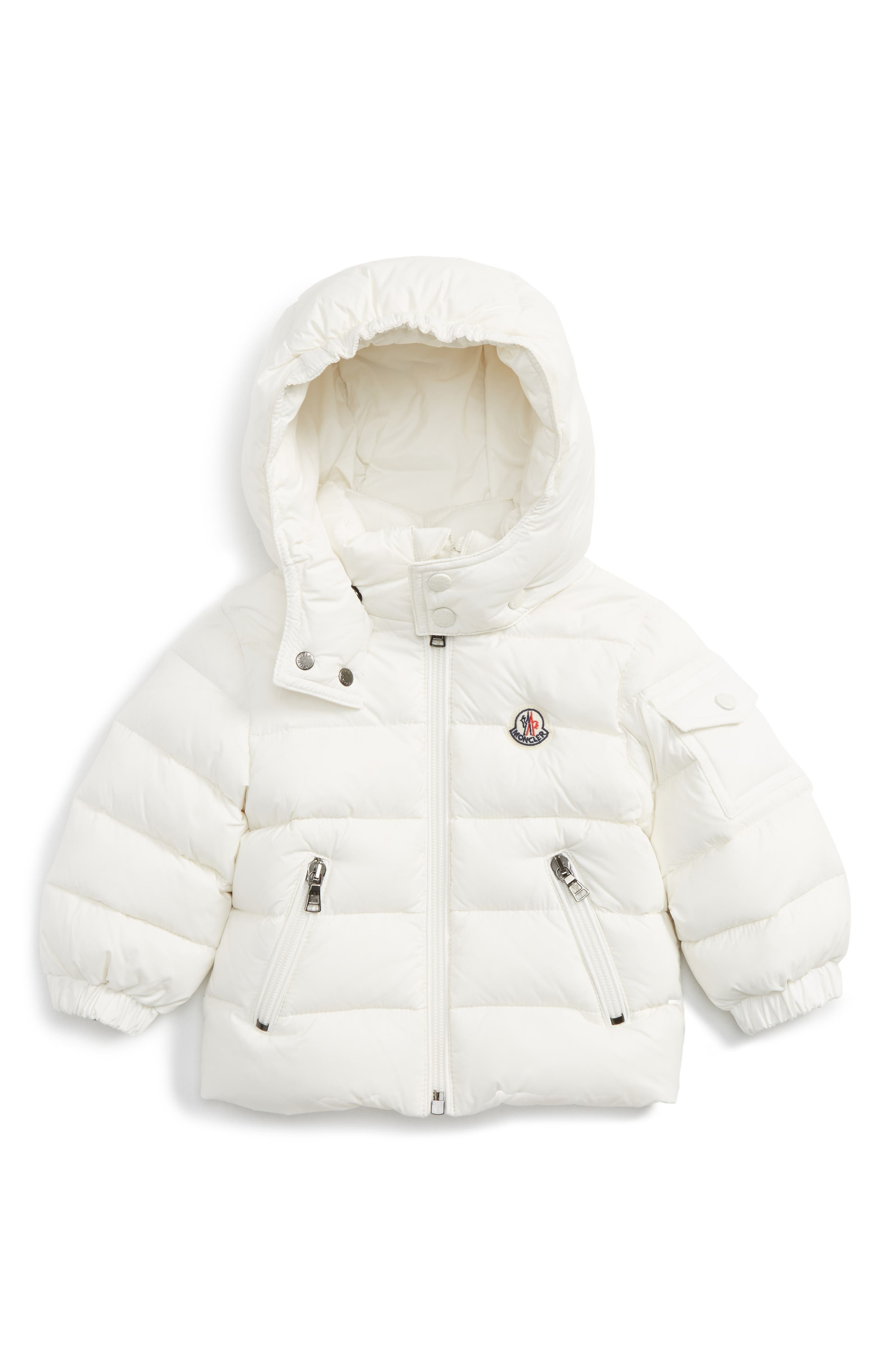 Main Image - Moncler Jules Water Resistant Down Jacket (Baby Girls)