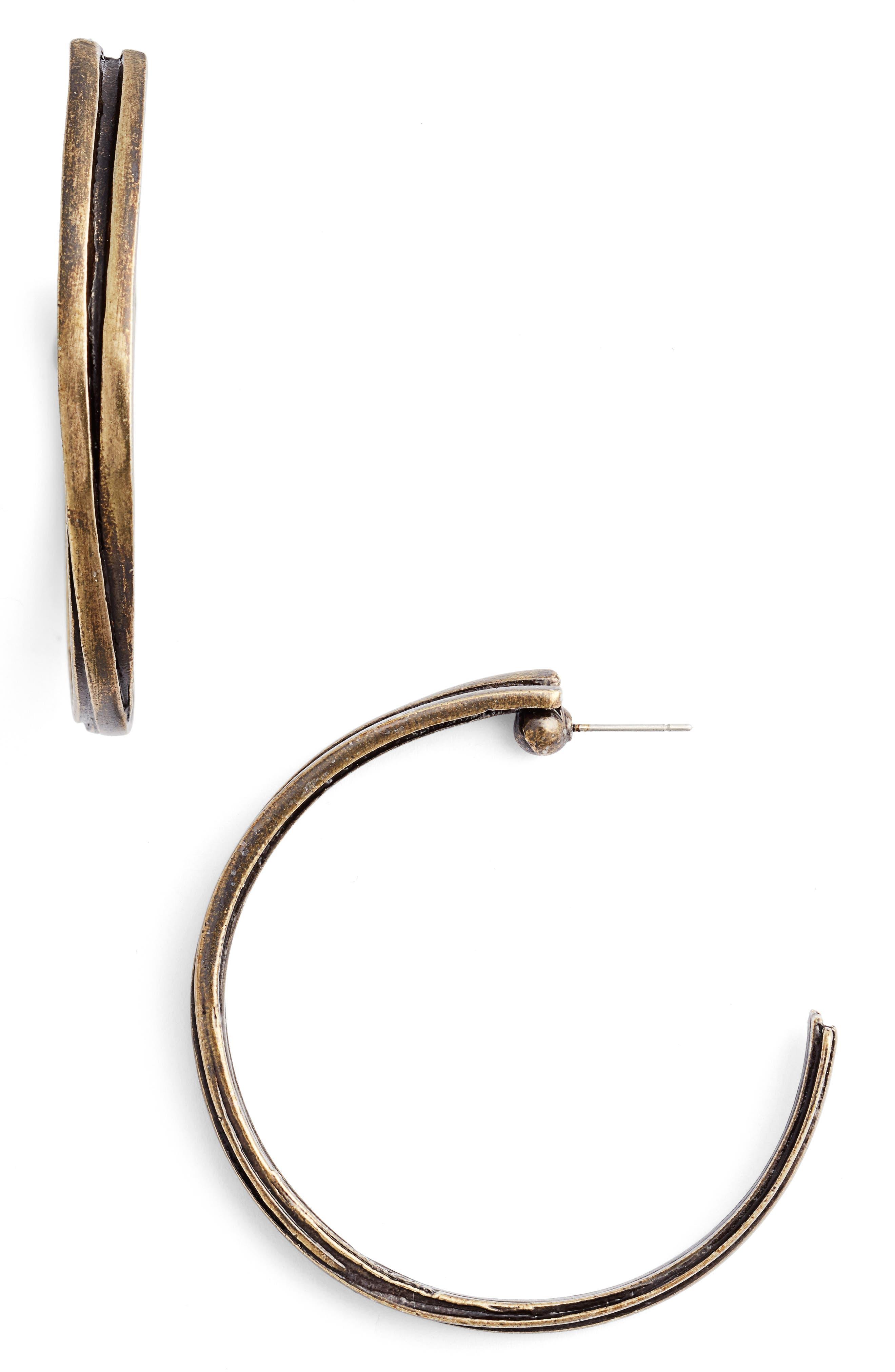 Karine Sultan Angelique Hoop Earrings