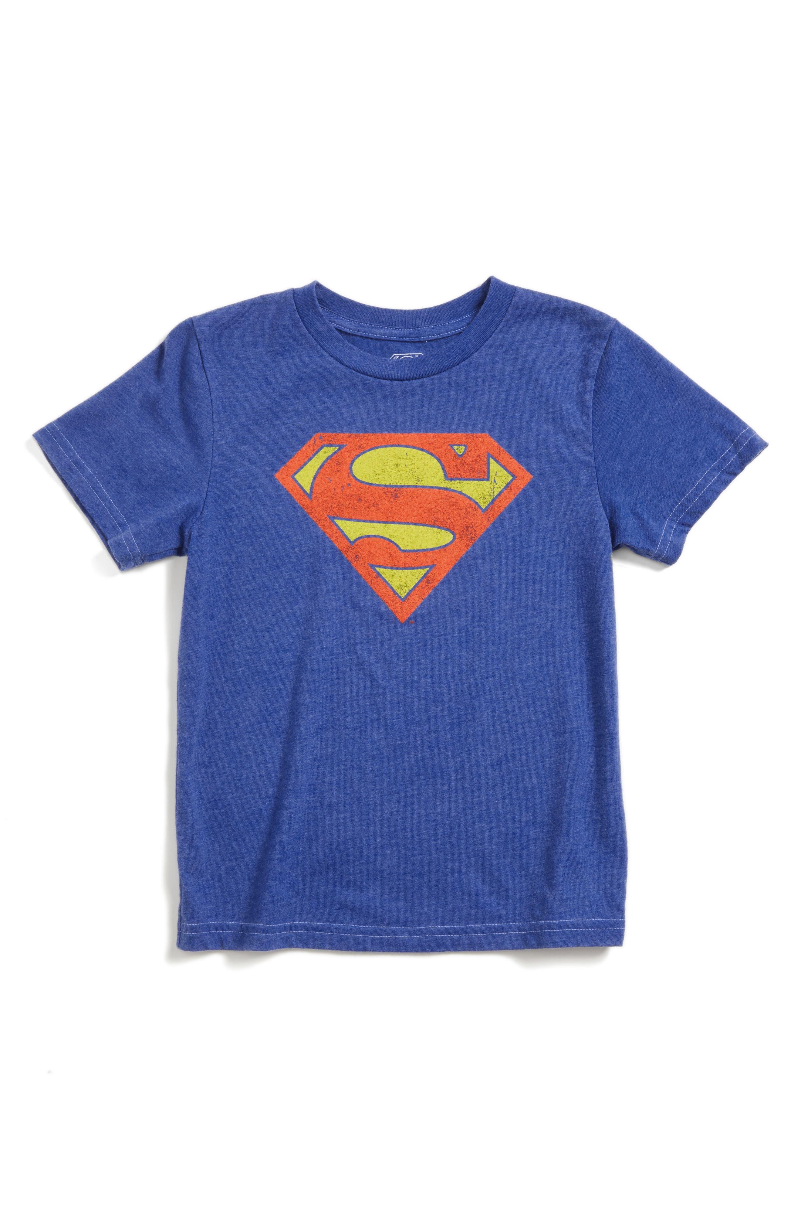Alternate Image 1 Selected - Jem Superman Graphic T-Shirt (Toddler Boys, Little Boys & Big Boys)