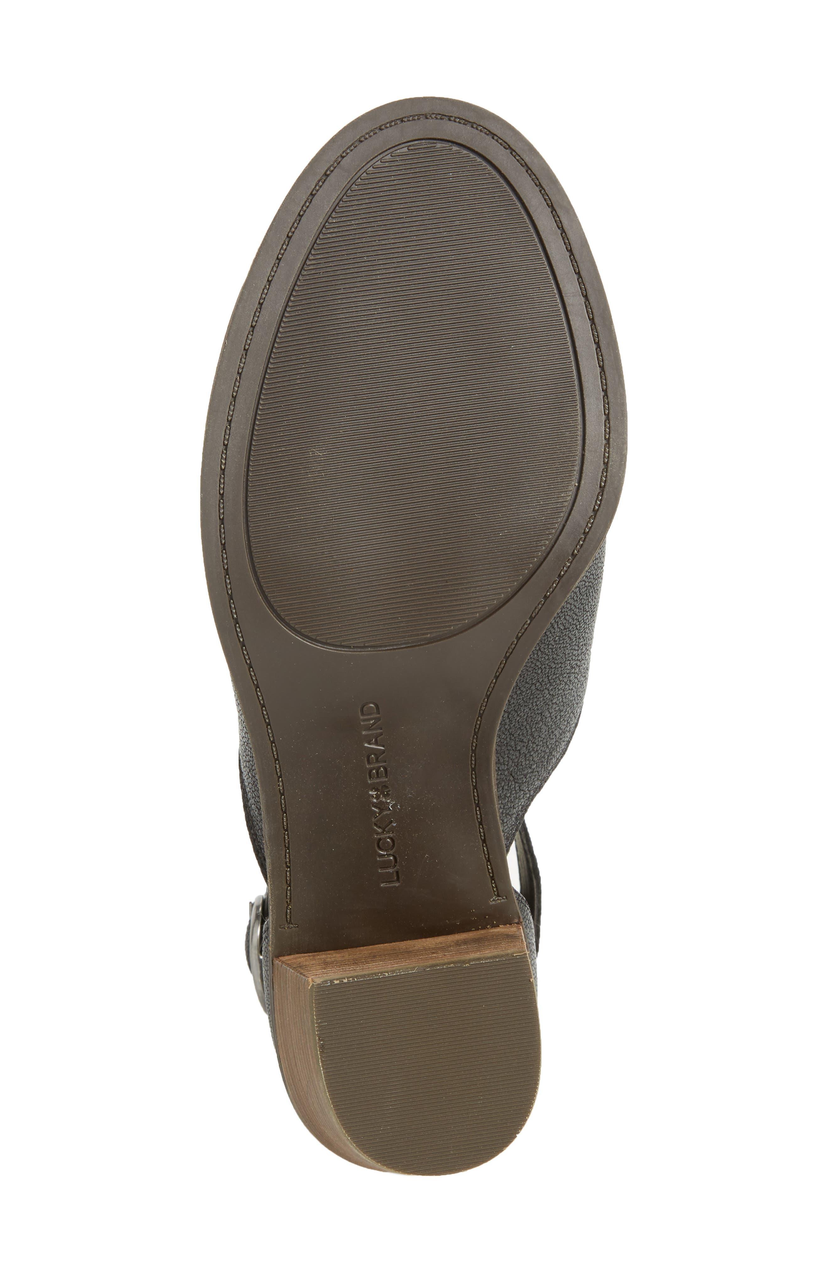 Kadian Block Heel Sandal,                             Alternate thumbnail 6, color,                             Black Leather