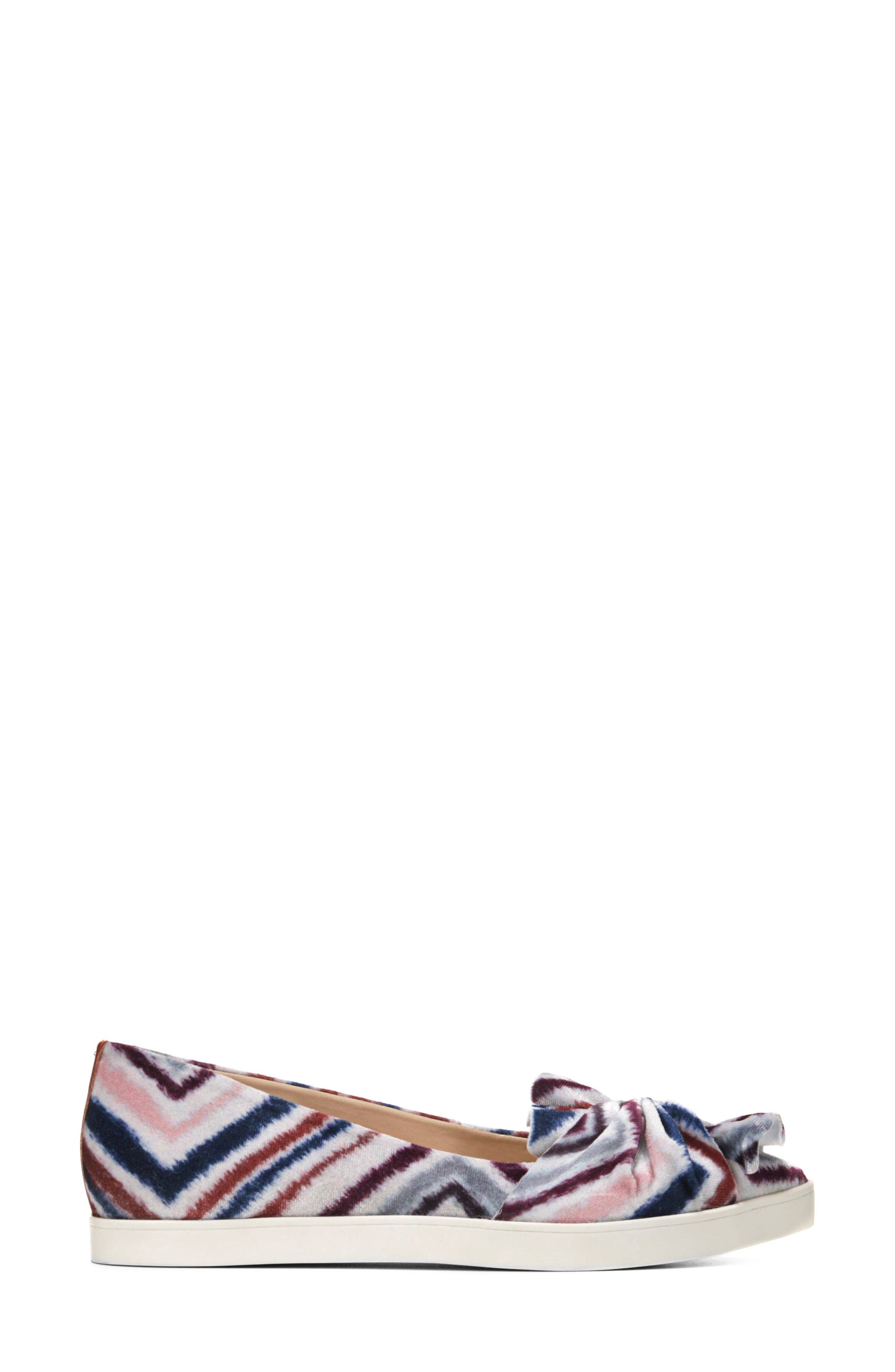 Viv Knotted Sneaker,                             Alternate thumbnail 3, color,                             Henna Printed Suede