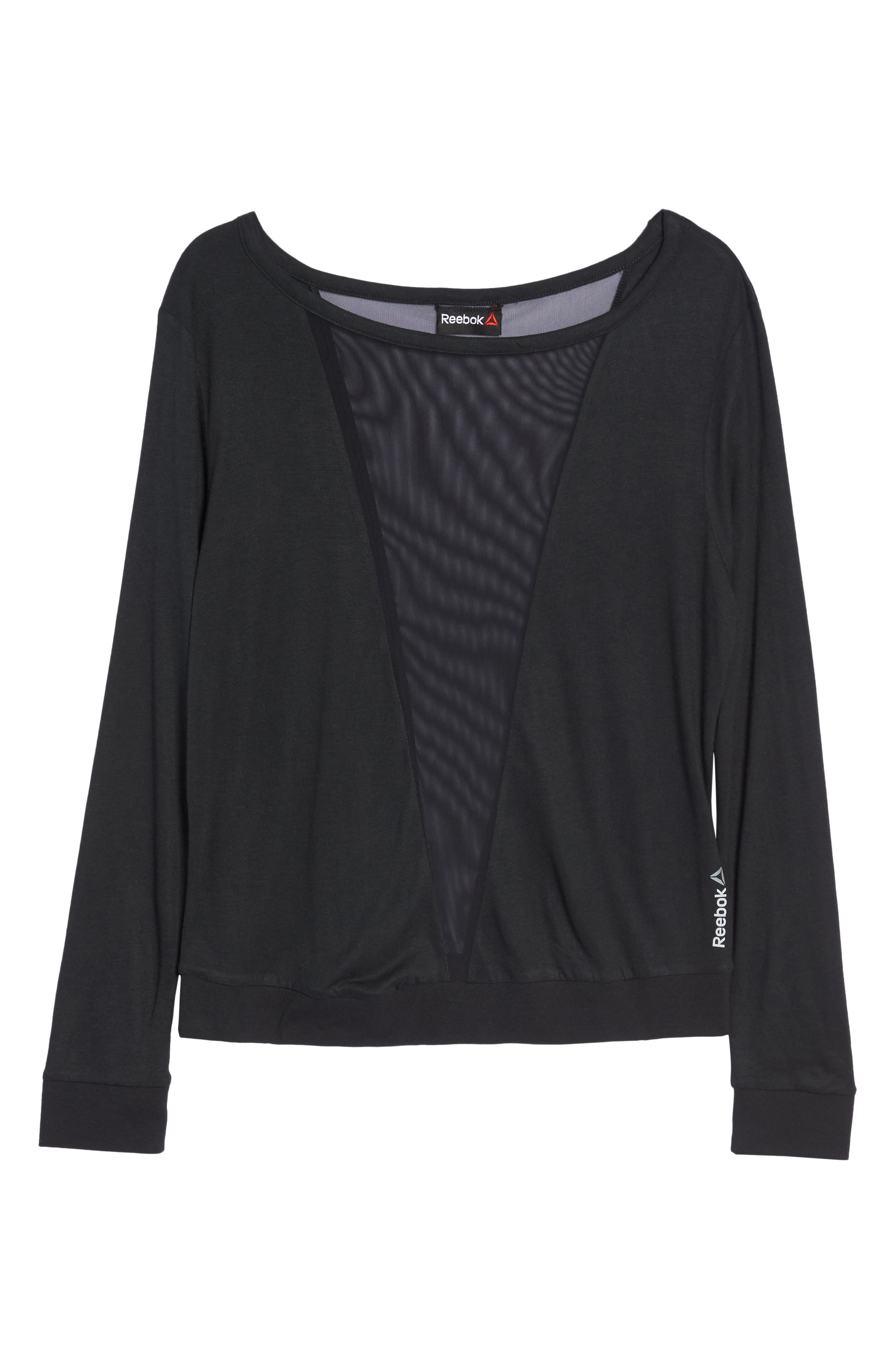 Mesh Pullover,                         Main,                         color, Black