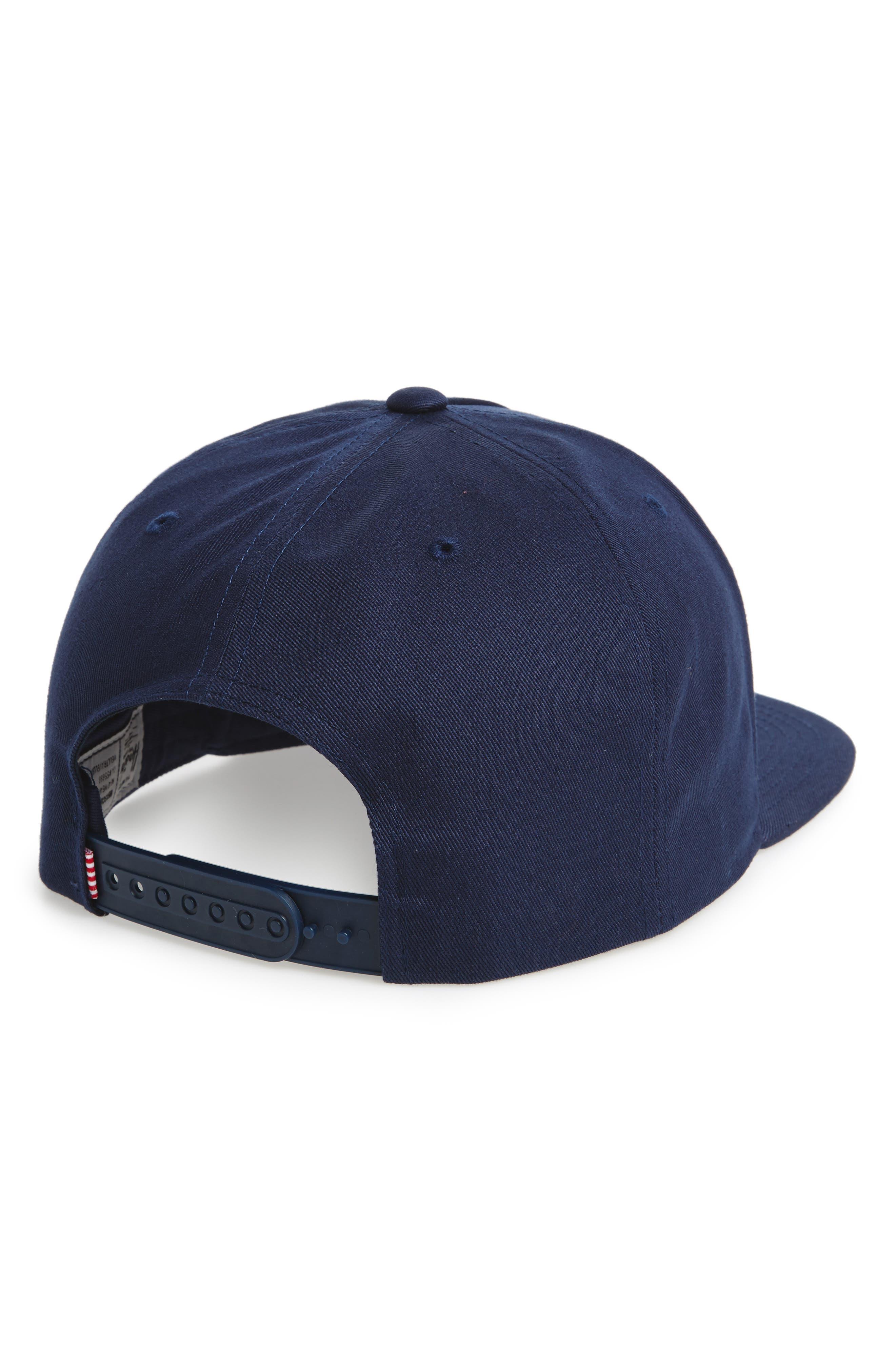 Dean Snapback Baseball Cap,                             Alternate thumbnail 2, color,                             Navy