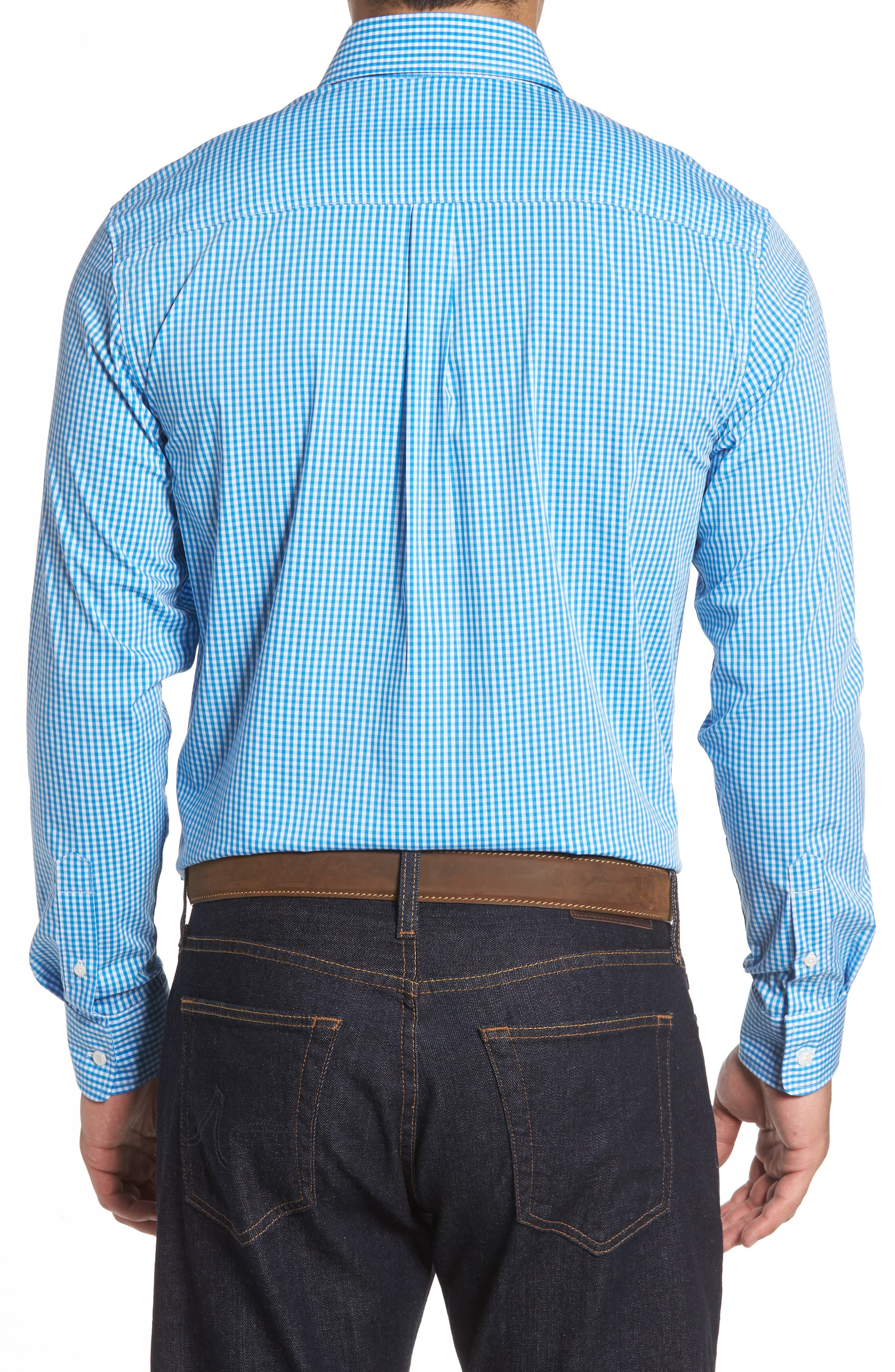 Augusta Classic Fit Check Sport Shirt,                             Alternate thumbnail 2, color,                             Oasis