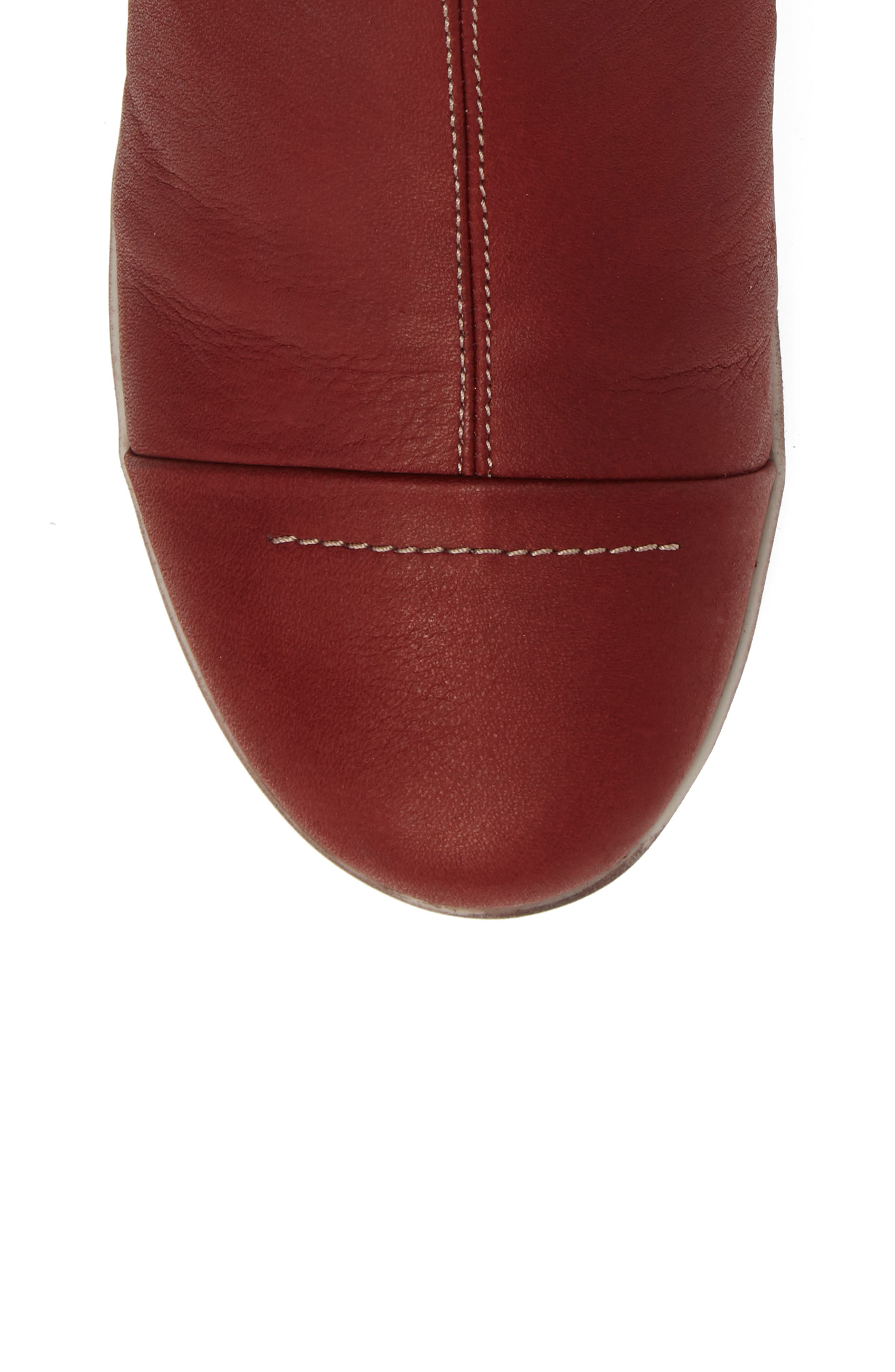 Amber Wool Lined Bootie,                             Alternate thumbnail 5, color,                             Red Leather