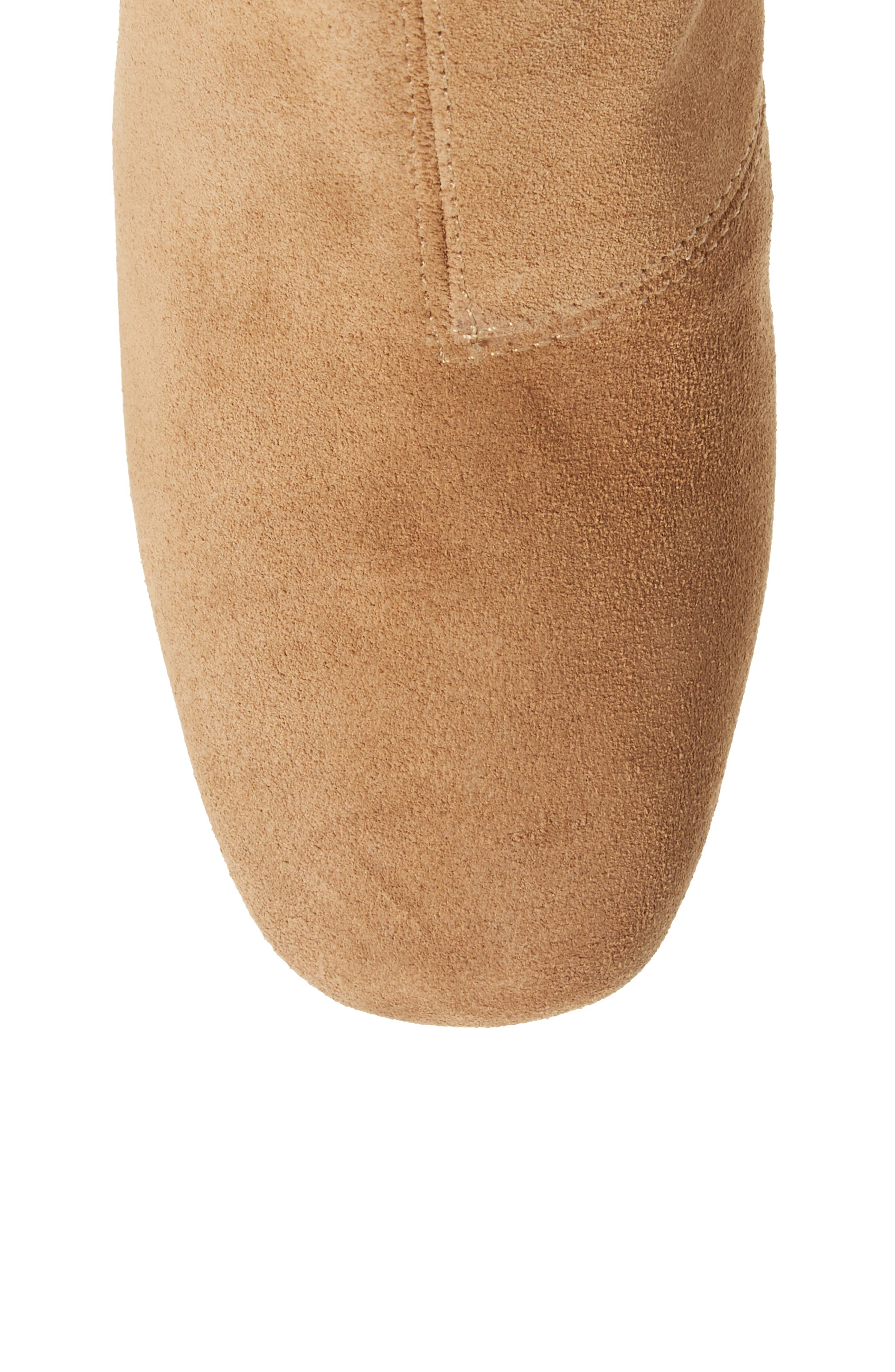 Emery Over the Knee Boot,                             Alternate thumbnail 5, color,                             Camel Suede