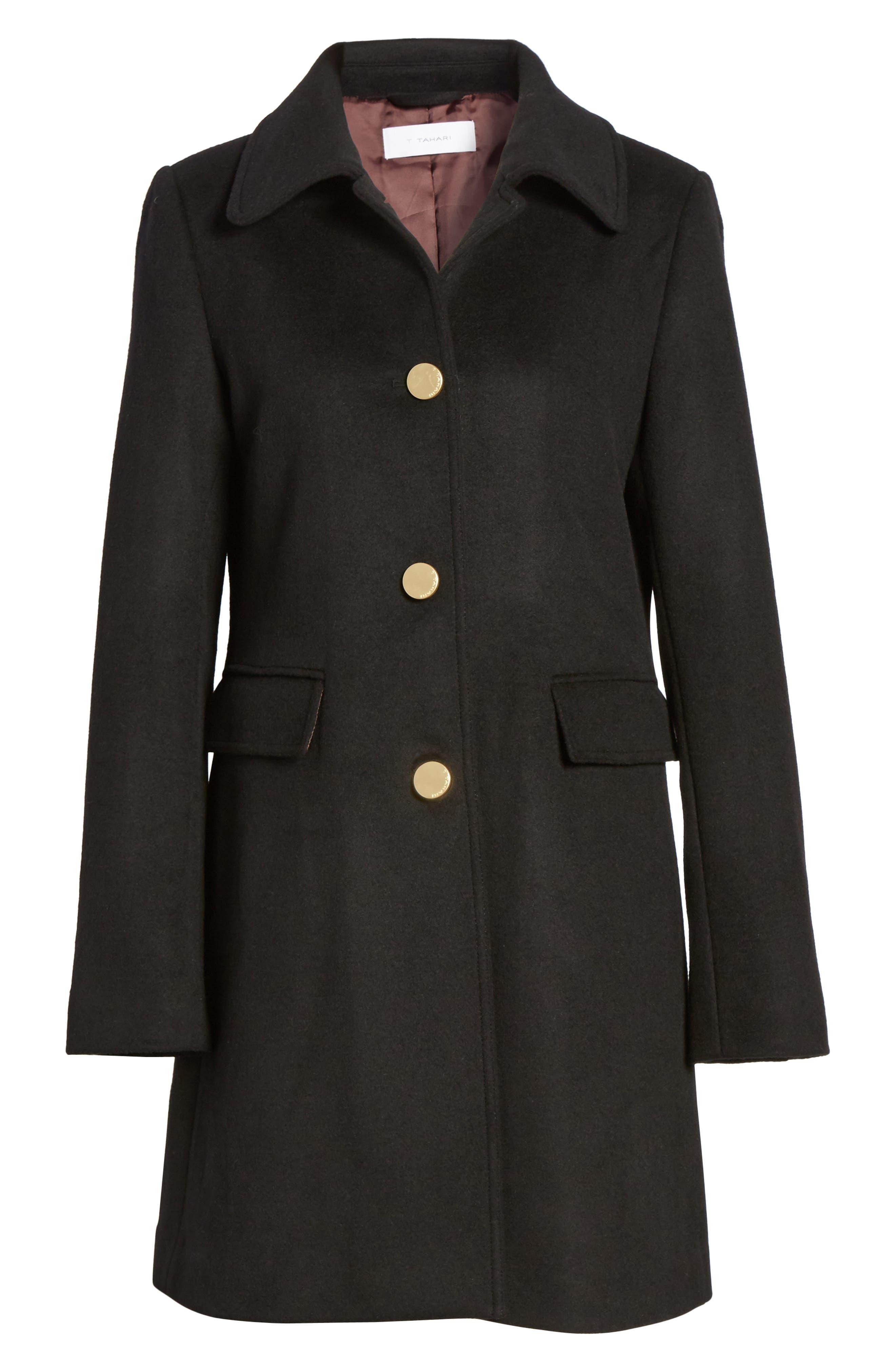 Alternate Image 6  - Tahari Sophia Wool A-Line Coat