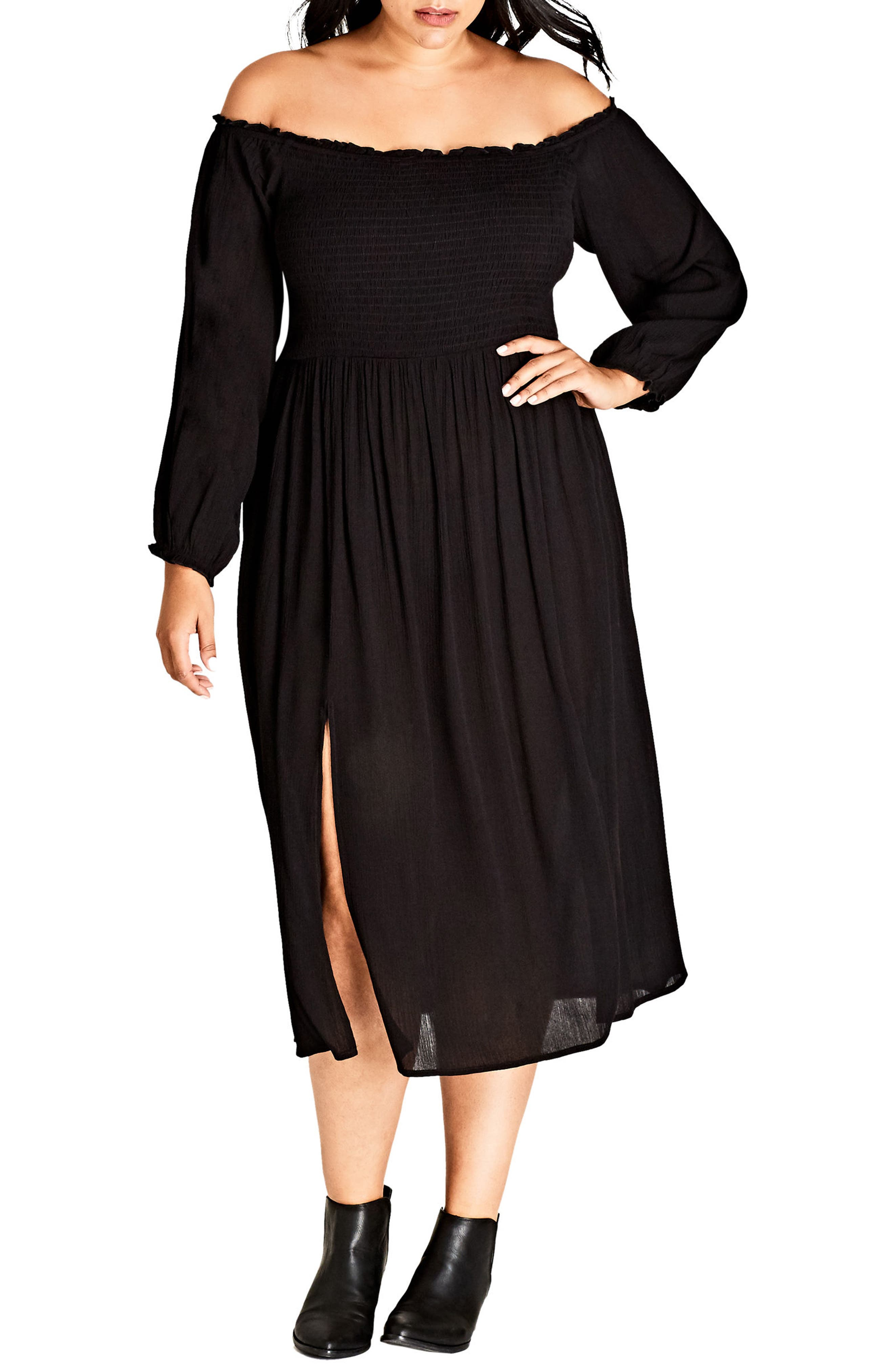 Main Image - City Chic Vintage Midi Dress (Plus Size)