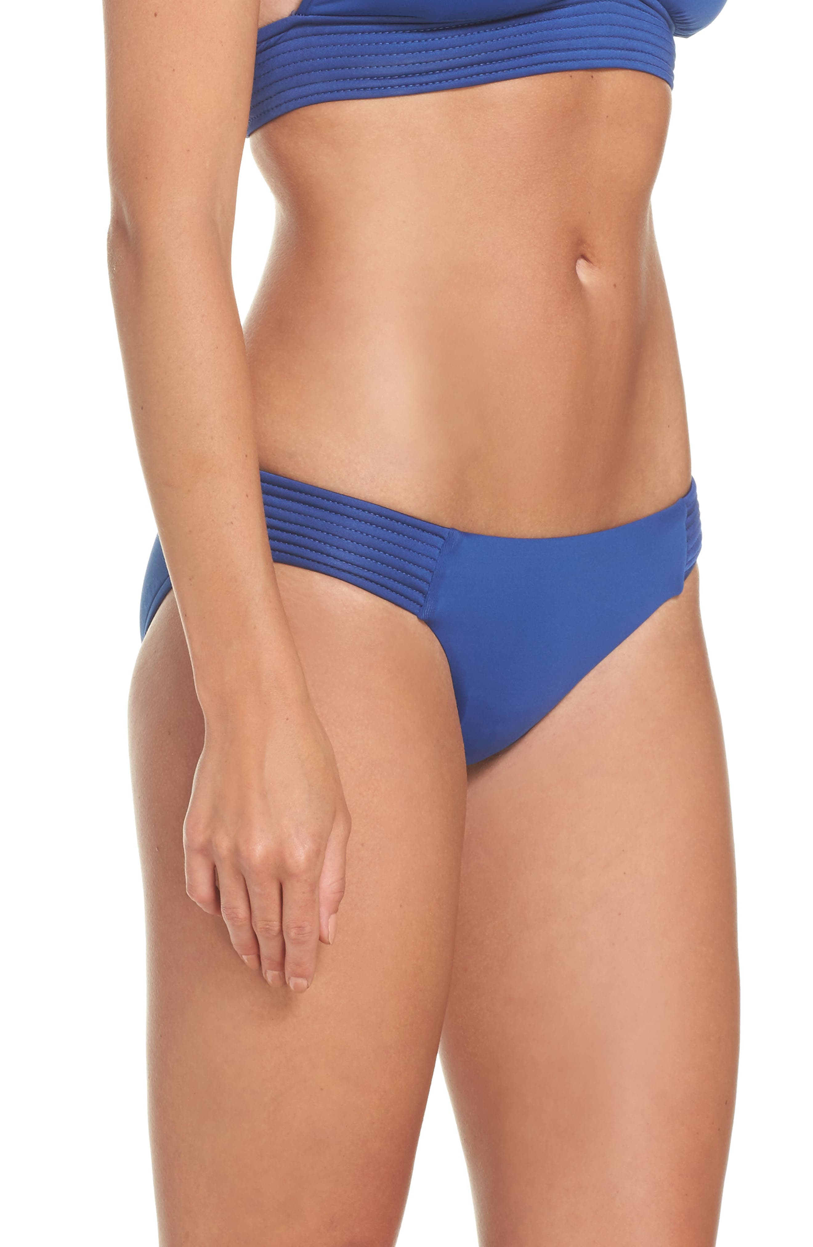 Quilted Bikini Bottoms,                             Alternate thumbnail 3, color,                             French Blue
