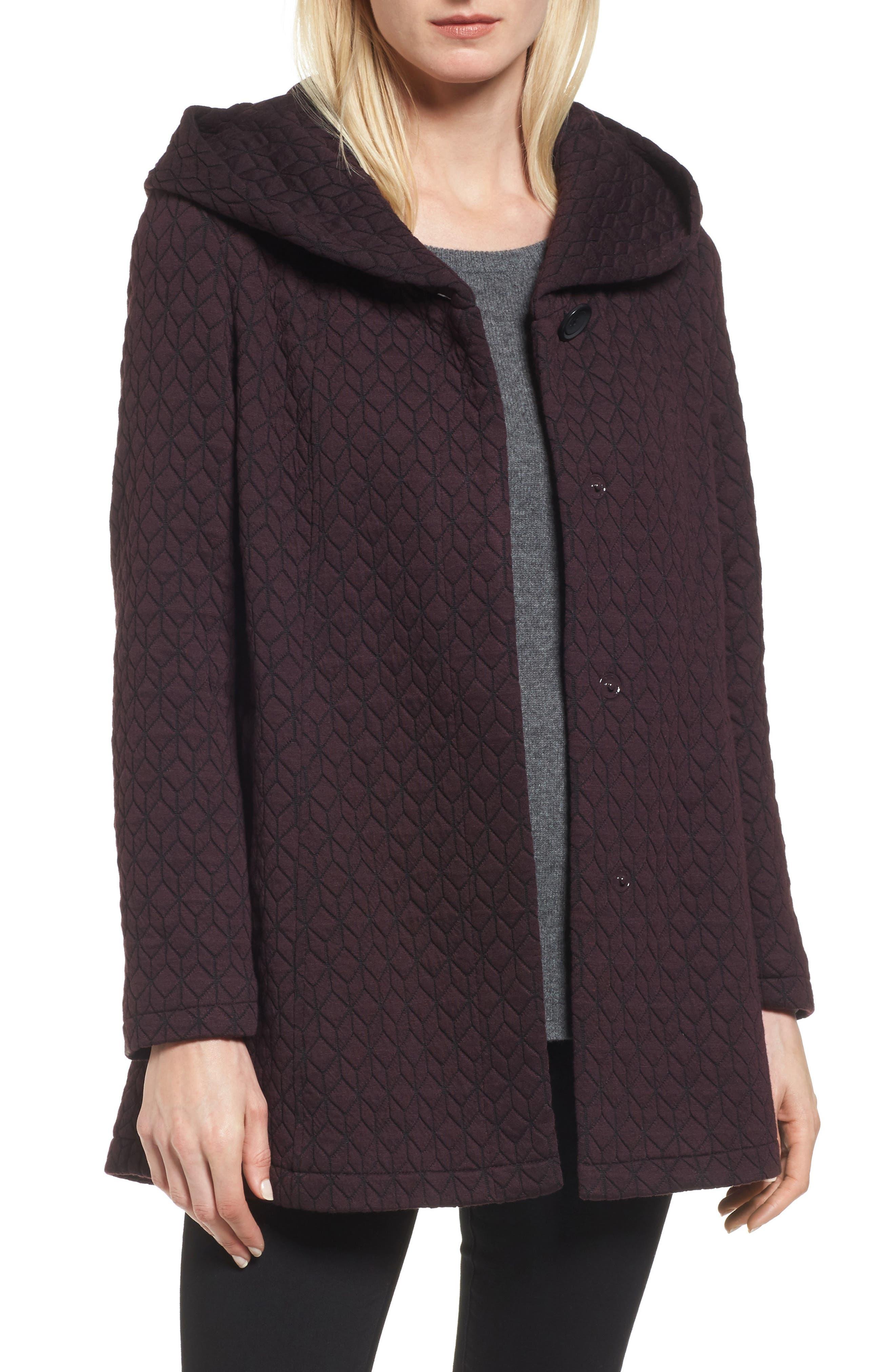 Cozy Knit Coat,                             Main thumbnail 1, color,                             Burgundy