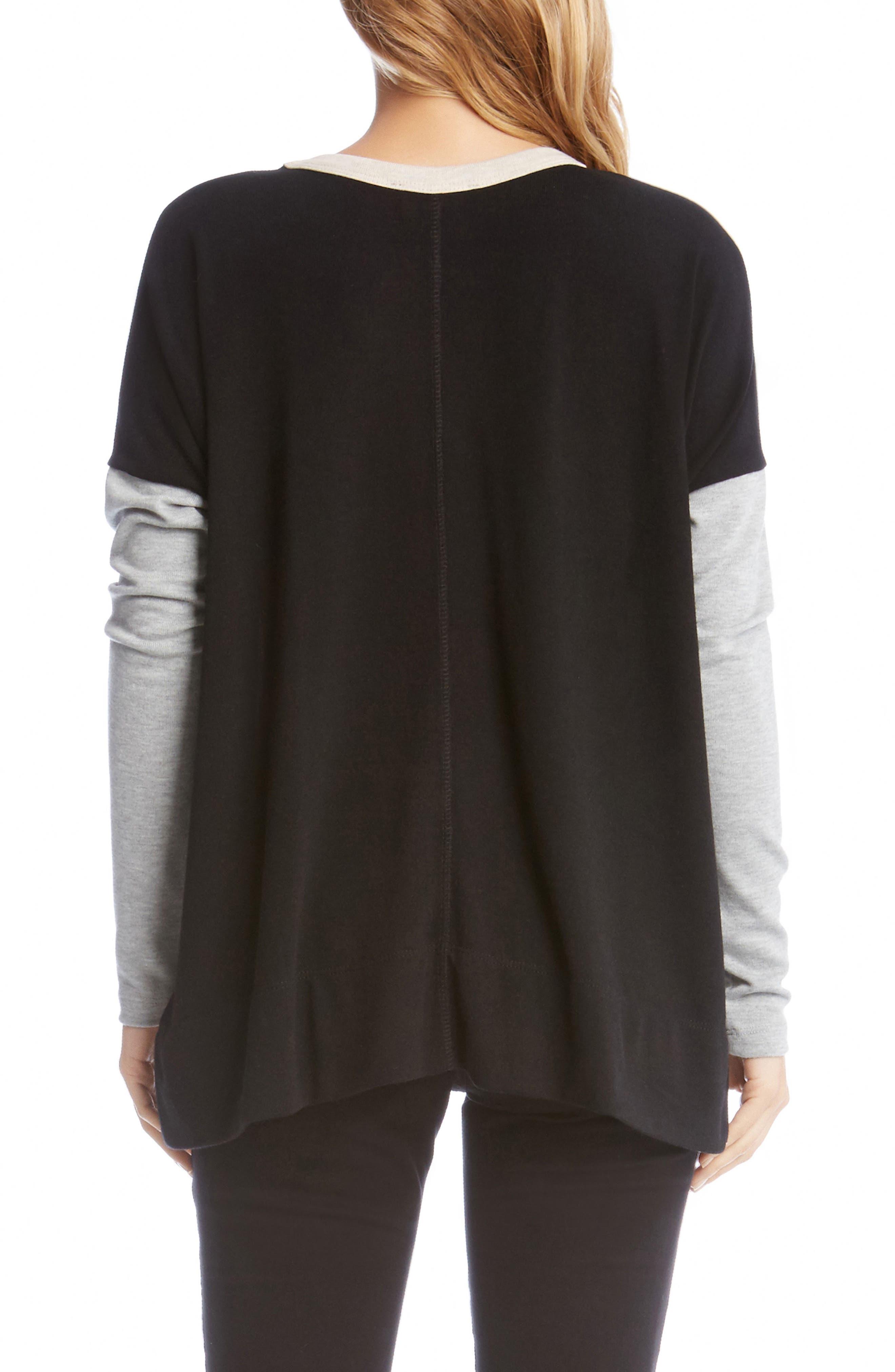 Alternate Image 2  - Karen Kane Colorblock Sweater